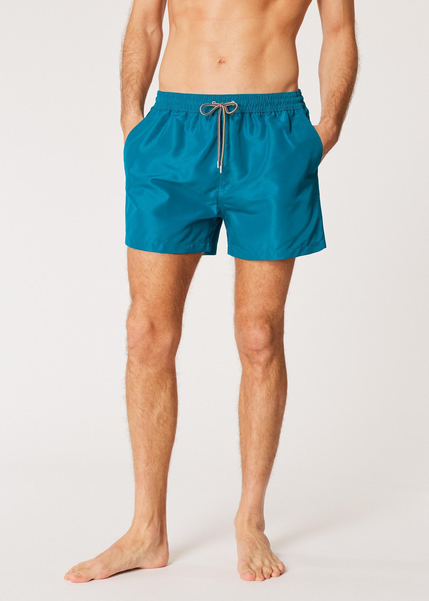 47a3d80ba Paul Smith Petrol Blue Swim Shorts in Blue for Men - Lyst