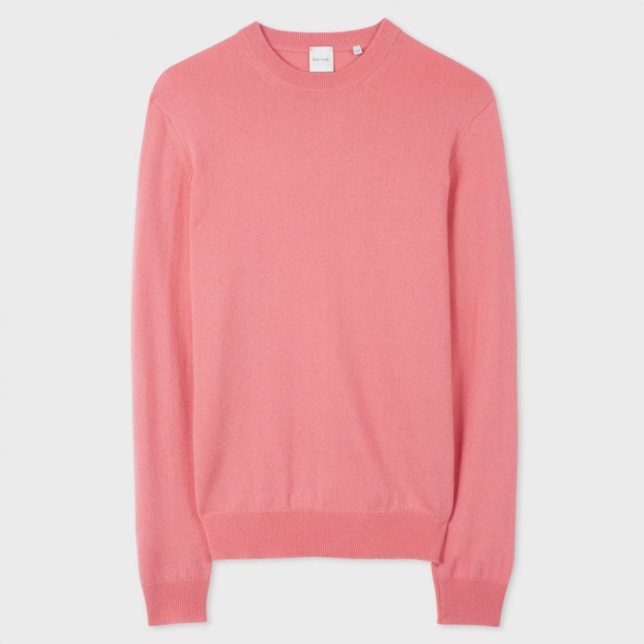 Paul smith Menu0026#39;s Pink Cashmere Sweater in Pink for Men | Lyst