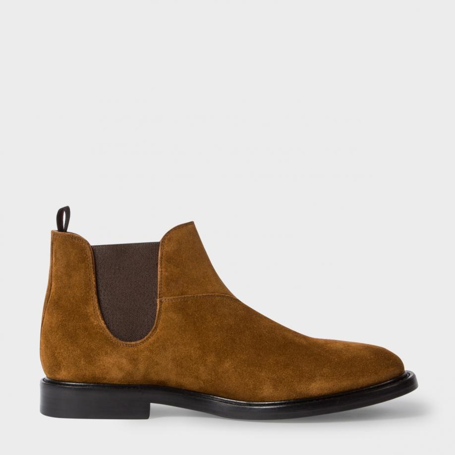paul smith men 39 s tan suede 39 drummond 39 chelsea boots in beige for men tan lyst. Black Bedroom Furniture Sets. Home Design Ideas
