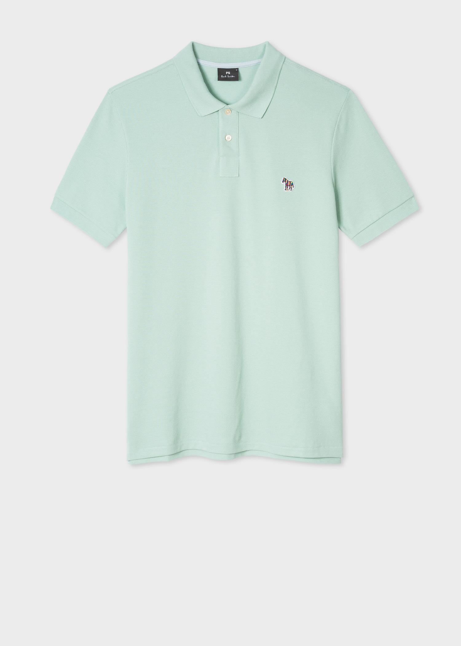 10b6a7b8b8 Paul Smith Mint Organic Cotton-Piqué Zebra Logo Polo Shirt in Green ...