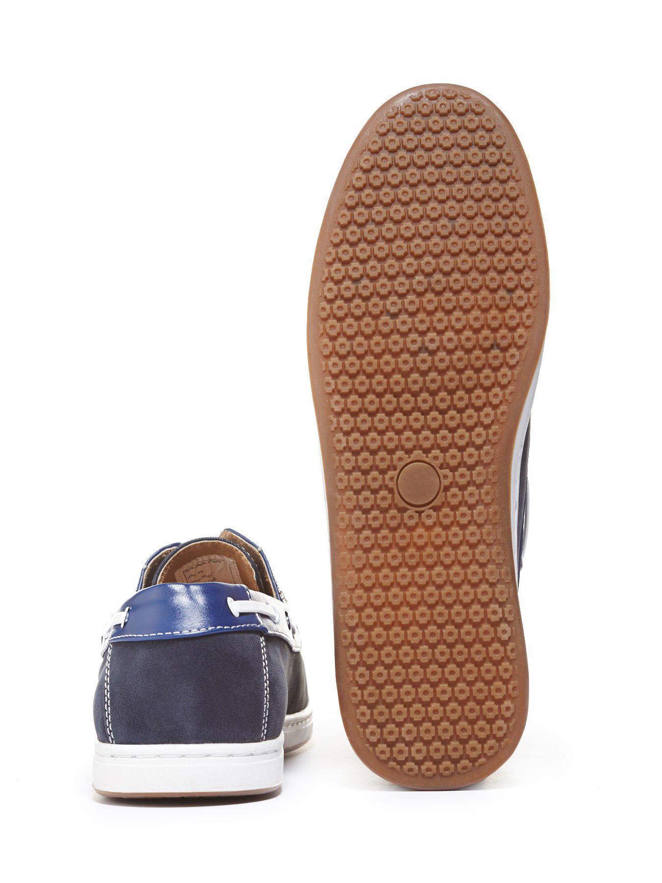 e7fa0f4e4f0b Lyst - Perry Ellis Fisher Athletic Boat Shoe in Black for Men