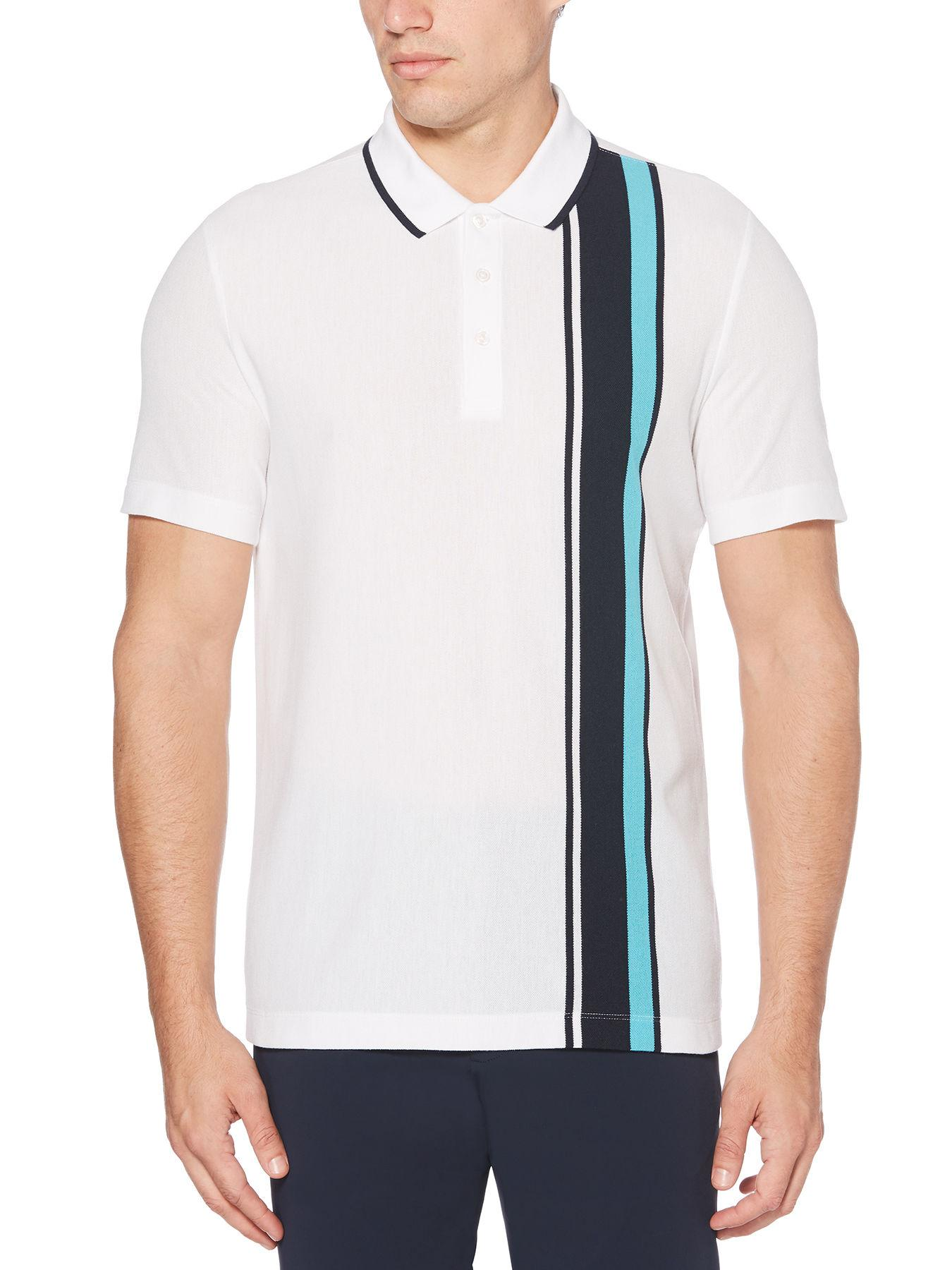 723dfea2be Lyst - Perry Ellis Pique Stripe Polo Shirt in White for Men