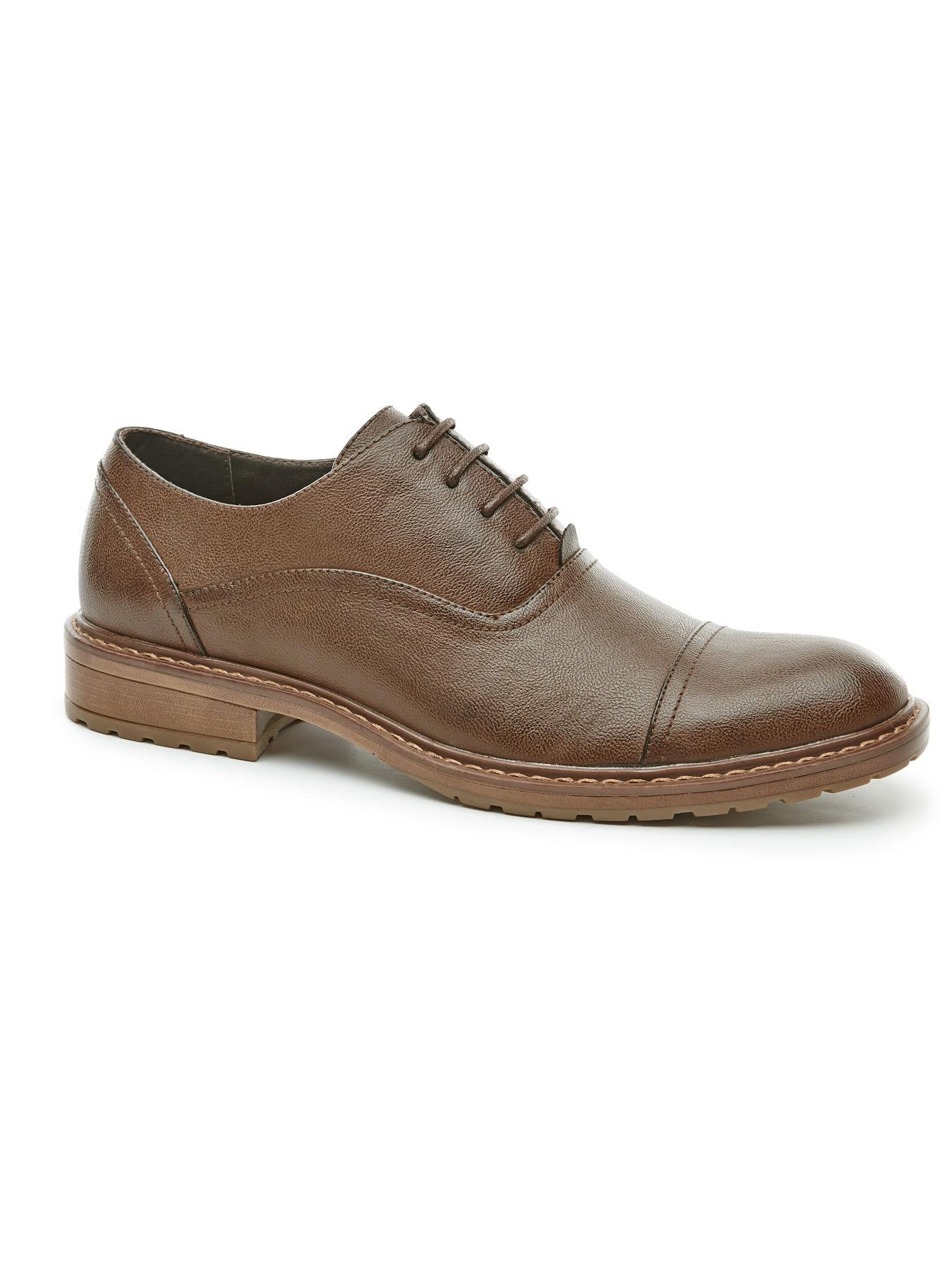 perry ellis jess dress shoe in brown for lyst