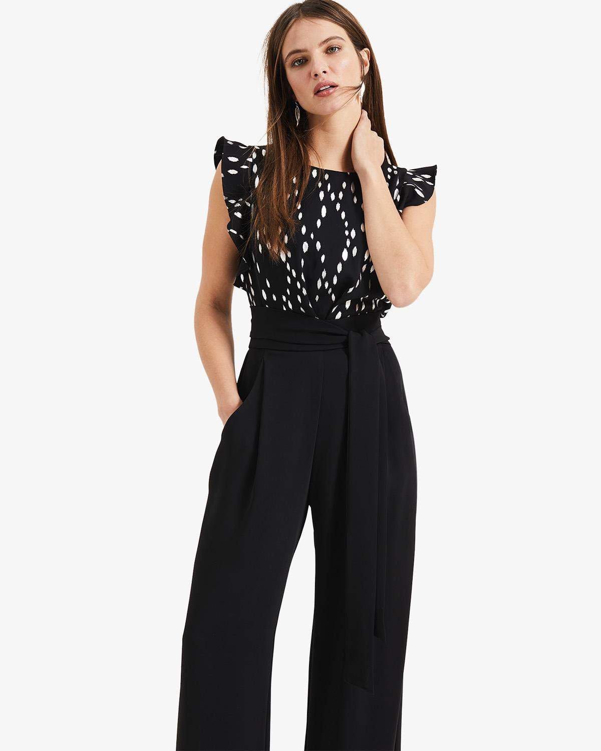 170acbe4a7a3 Phase Eight - Black Victoriana Foil Print Jumpsuit - Lyst. View fullscreen