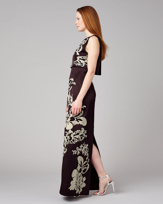 2da45b65ab266 Phase Eight Doris Embroidered Full Length Dress - Lyst