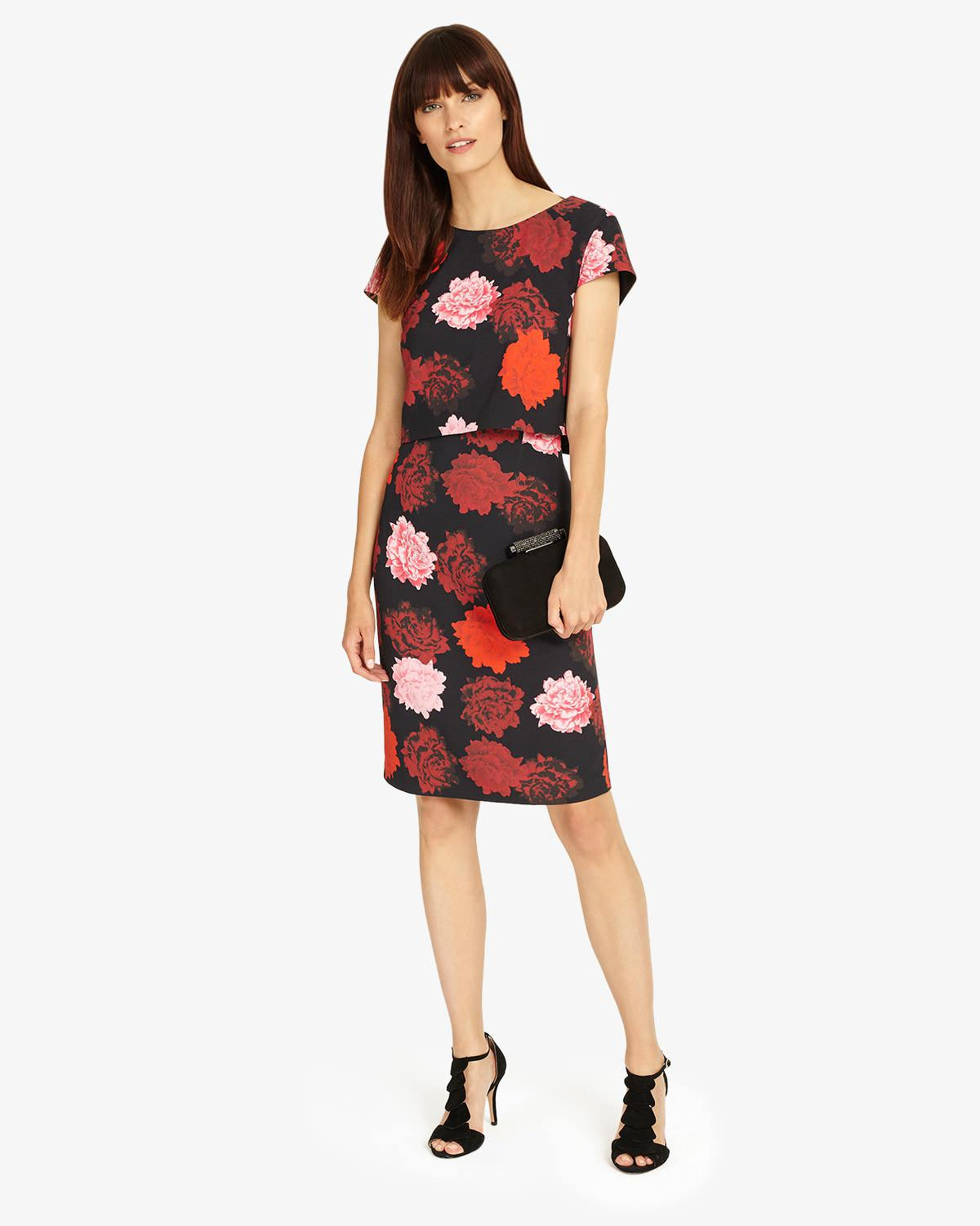 24fd54c071d Phase Eight Viola Layered Dress in Red - Save 27% - Lyst