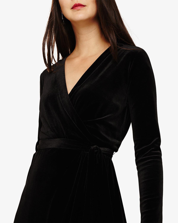 eeba603ce2 Phase Eight - Black Valeria Velvet Wrap Dress - Lyst. View fullscreen