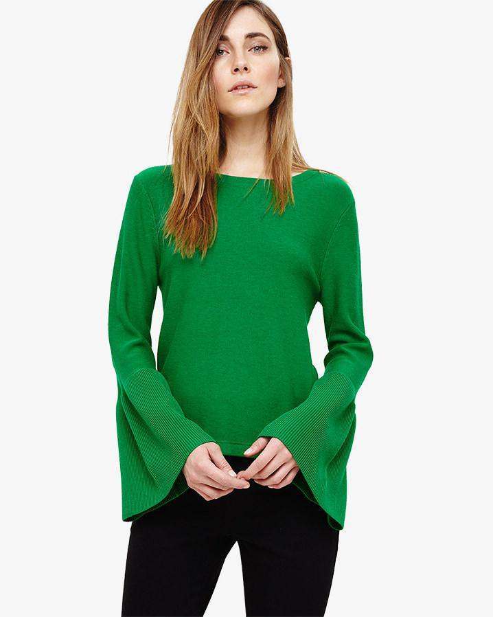 ce5da4d1939 Phase Eight Flori Bell Sleeve Knit Top in Green - Lyst