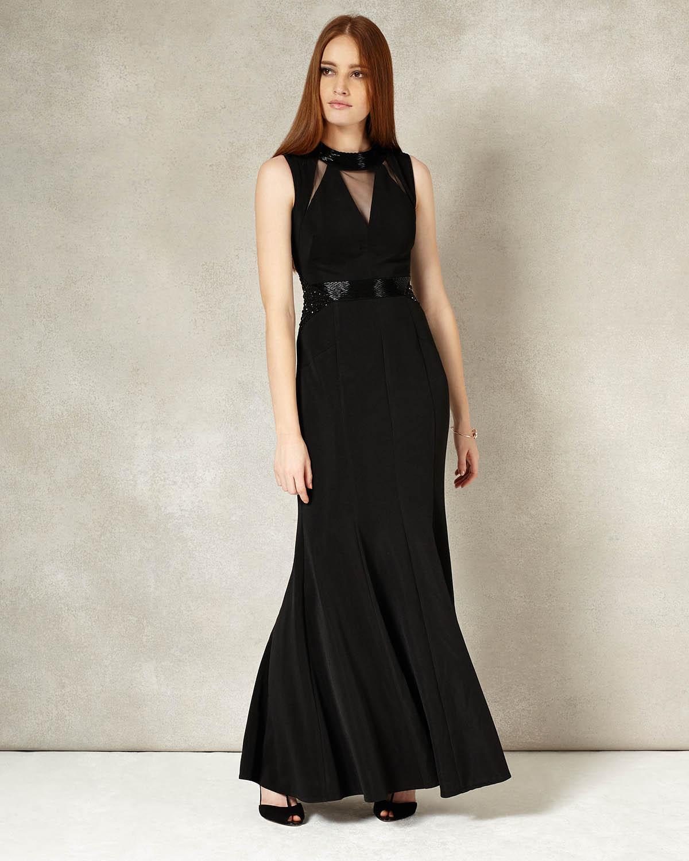 0b72120ce71 Phase Eight Emelda Full Length Dress in Black - Lyst