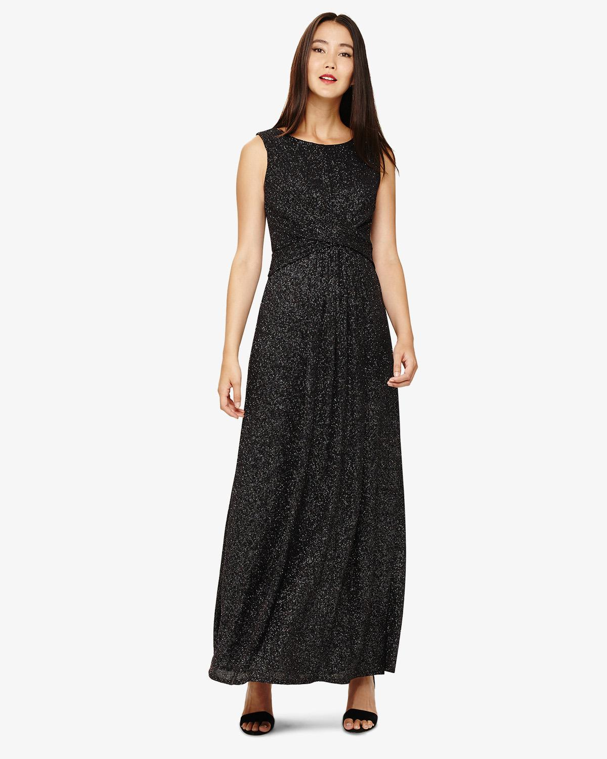 9644cce4c1 Lyst - Phase Eight Ida Shimmer Maxi Dress in Black