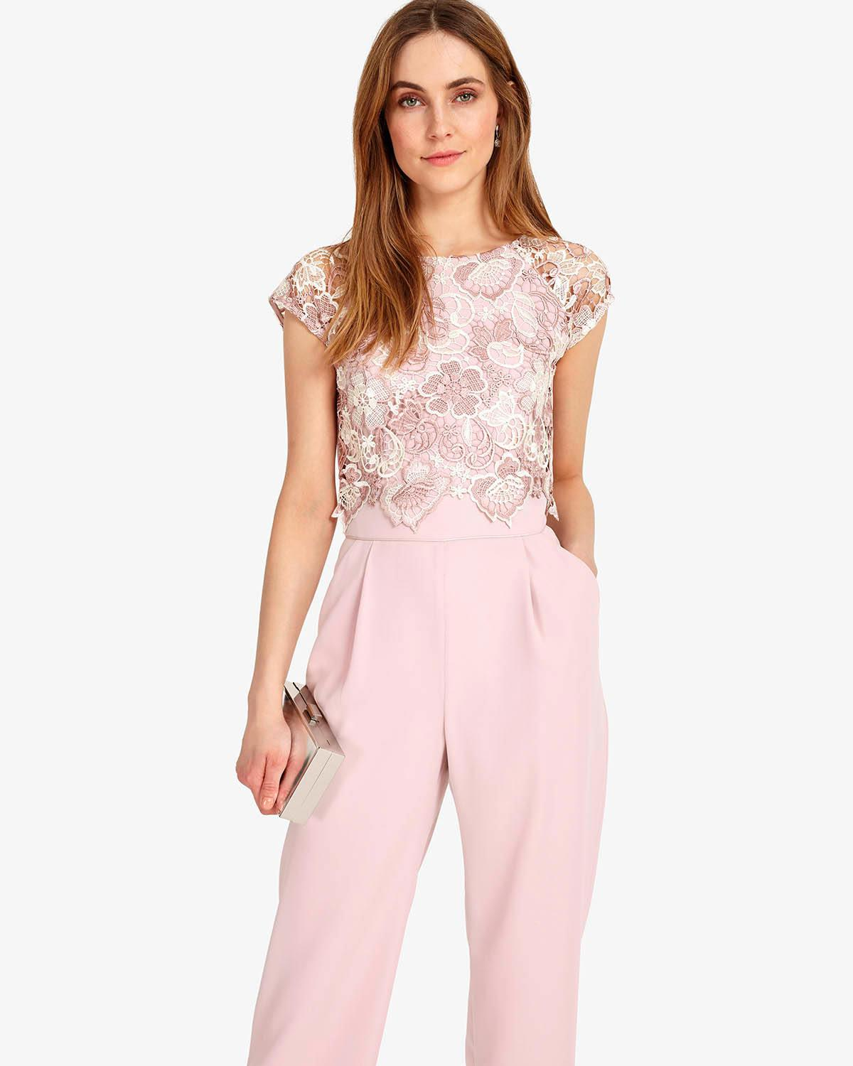 5553d83b42f6 Phase Eight Cortine Lace Jumpsuit - Lyst