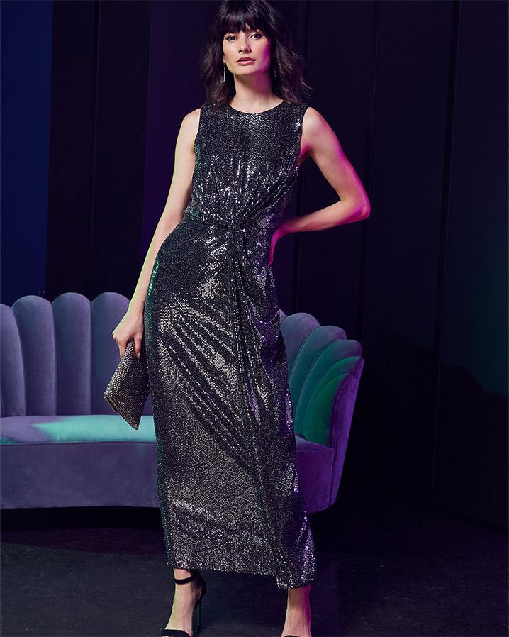 d62cff961698 Phase Eight Dahlia Shimmer Twist Maxi Dress in Metallic - Lyst