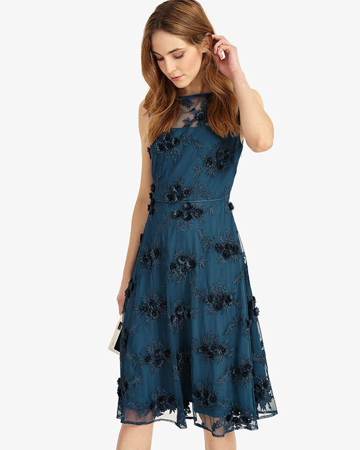 Lyst - Phase Eight Deidra Embroidered Dress in Blue