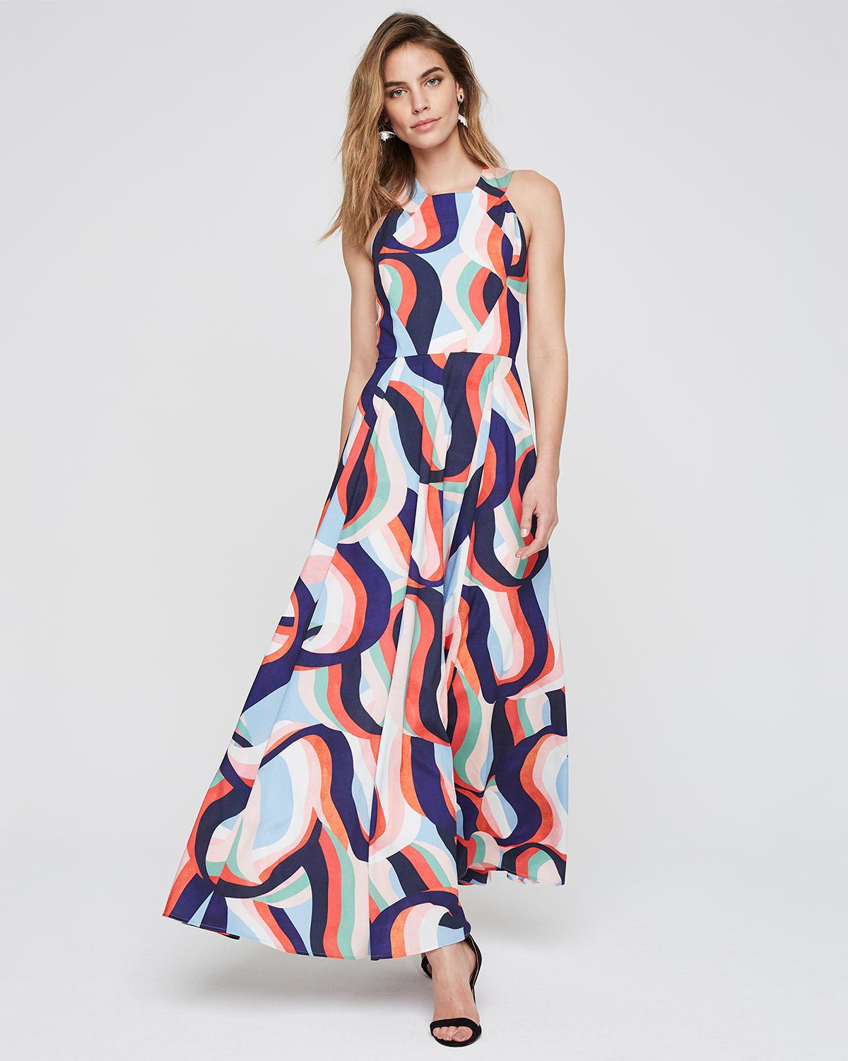 1fadac28ca2a Phase Eight Caprice Printed Maxi Dress in Blue - Lyst