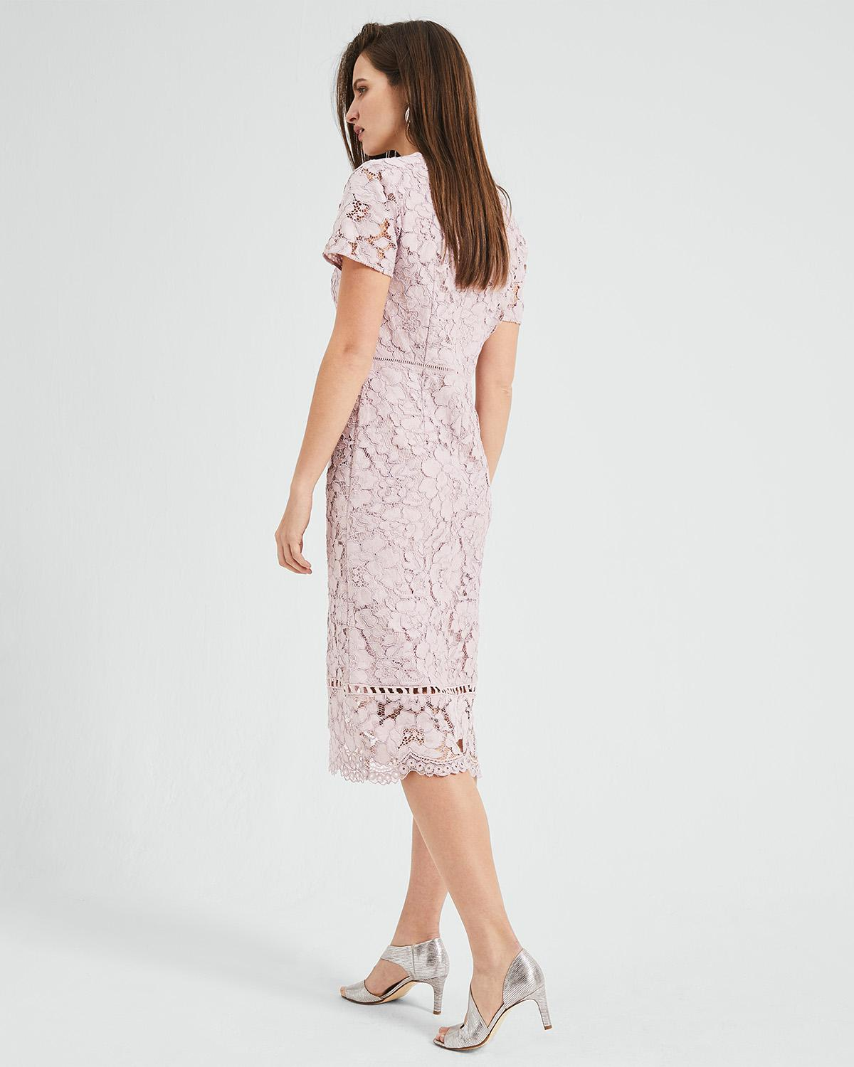 876e148a34 Lyst - Phase Eight Trinity Corded Lace Dress in Pink