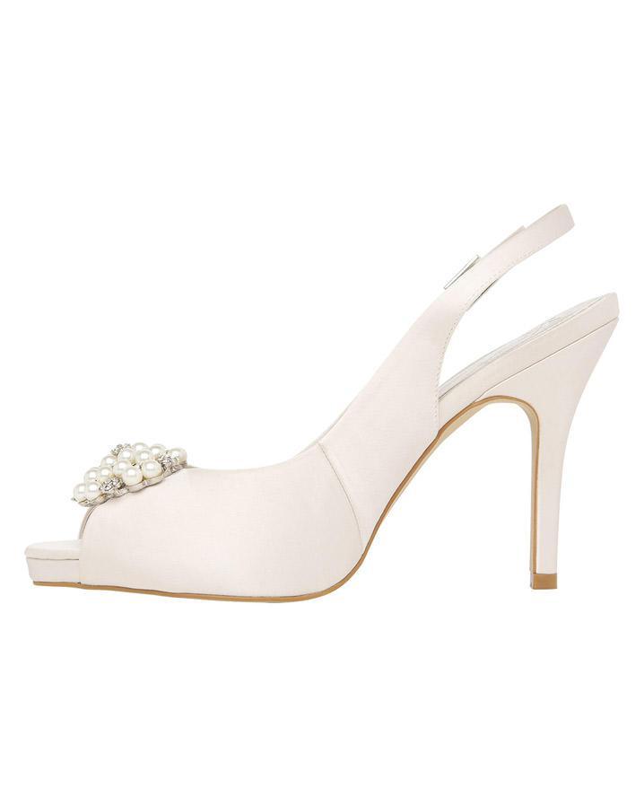 c1de3e7071e Lyst - Phase Eight Alice Slingback Platform Shoes in White