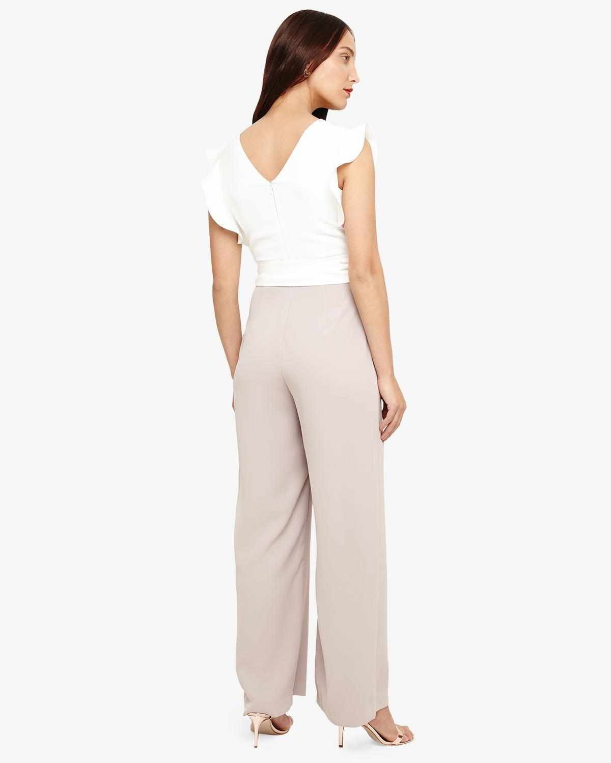 fbaf64967e Phase Eight Ivory And Latte Victoriana Jumpsuit in White - Save 16% - Lyst