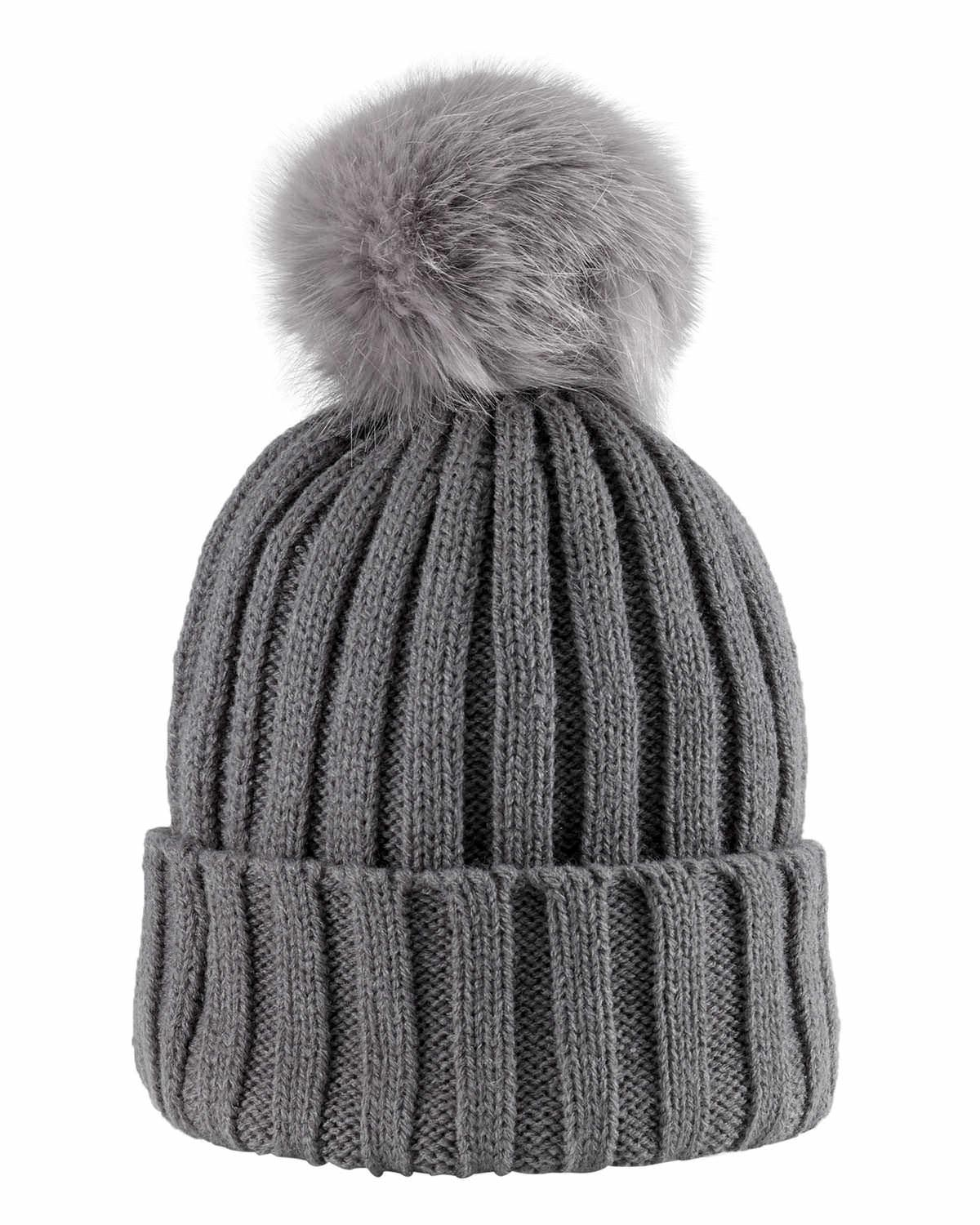 c8c9e1241d8 Lyst - Phase Eight Wool Blend Pom Pom Hat in Gray
