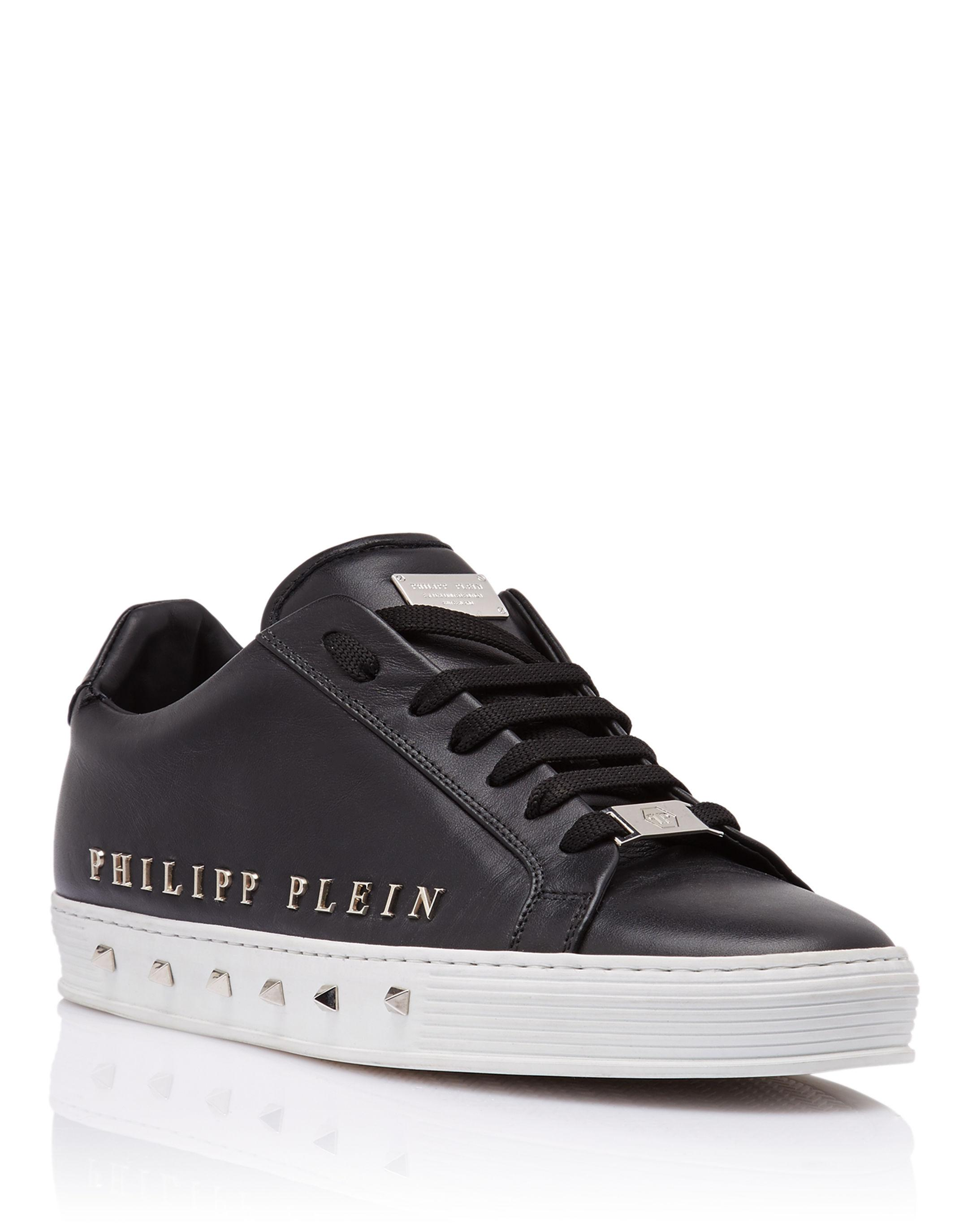 """Philipp PleinLo-Top Sneakers """"The first time in my life"""""""