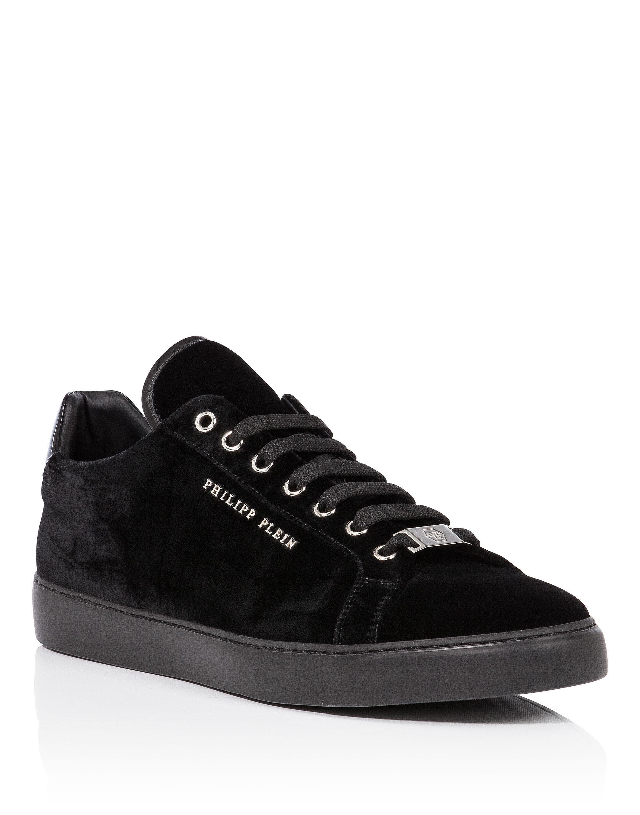 Ebony monogram leather sneakers Philipp Plein mbvdCdgloP