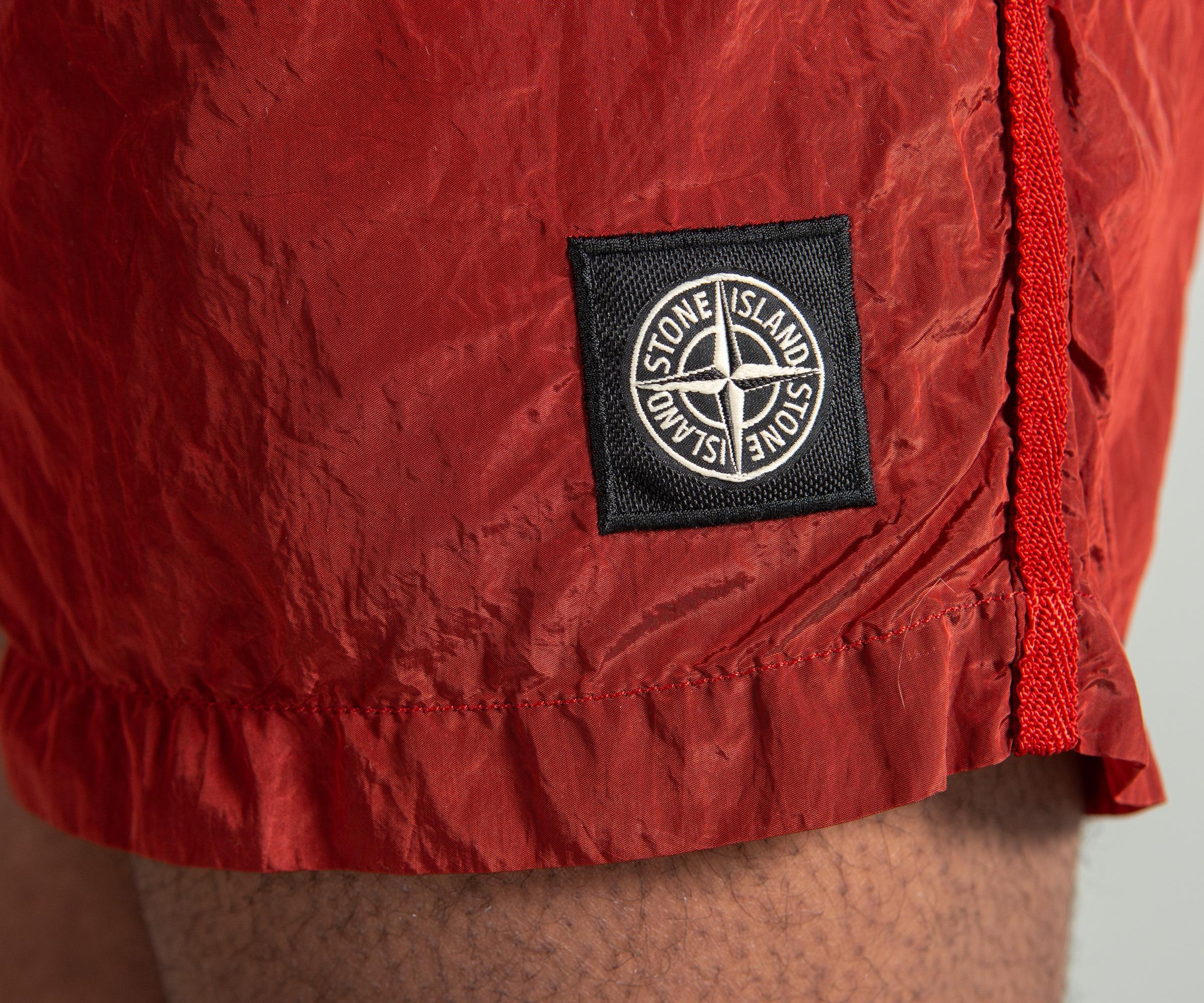 5e72d645c8 Stone Island Short Length Nylon Metal Swim Shorts Mattone Red in Red ...