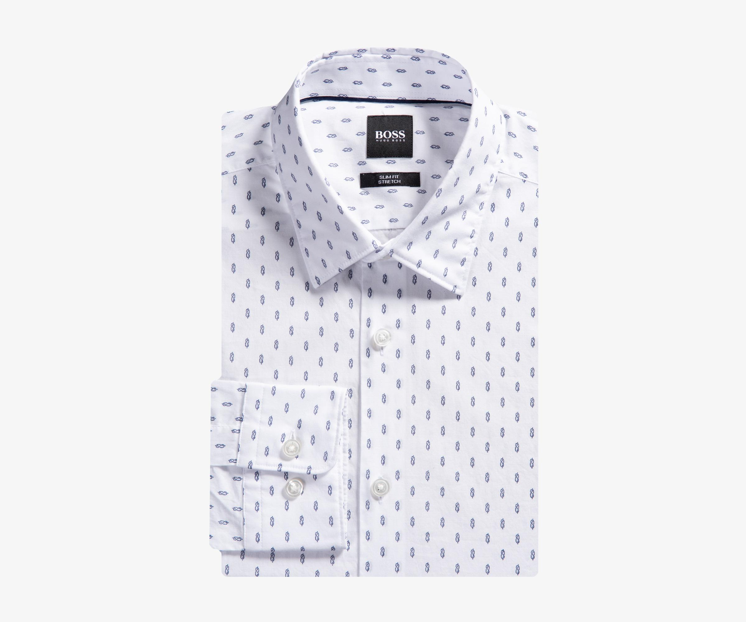 a8c75412 BOSS 'ronni_f' Knot Design White/blue in White for Men - Lyst