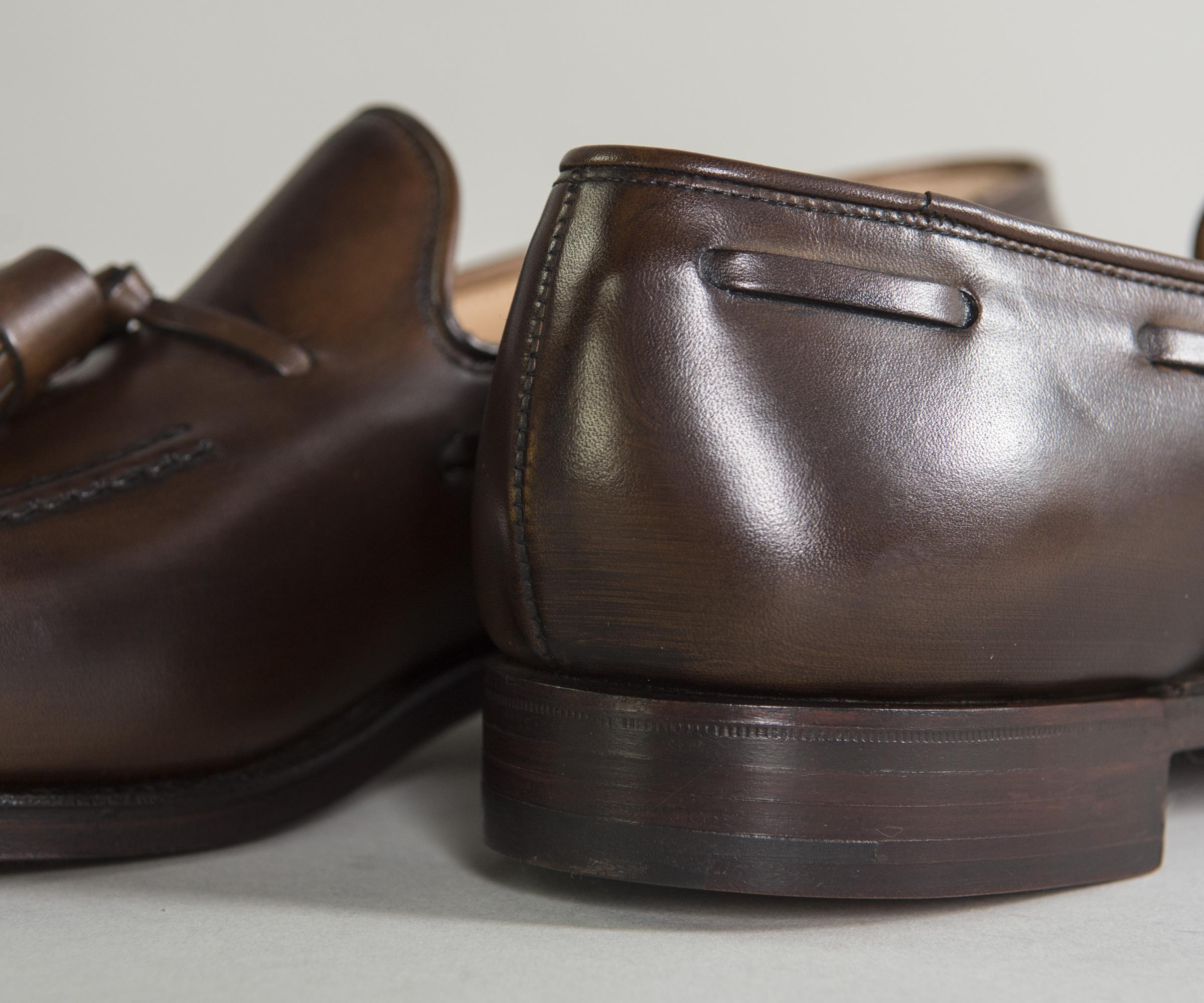 e39db2ba348 Crockett and Jones -  cavendish  Burnished Calf Leather Loafers Dark Brown  for Men -. View fullscreen