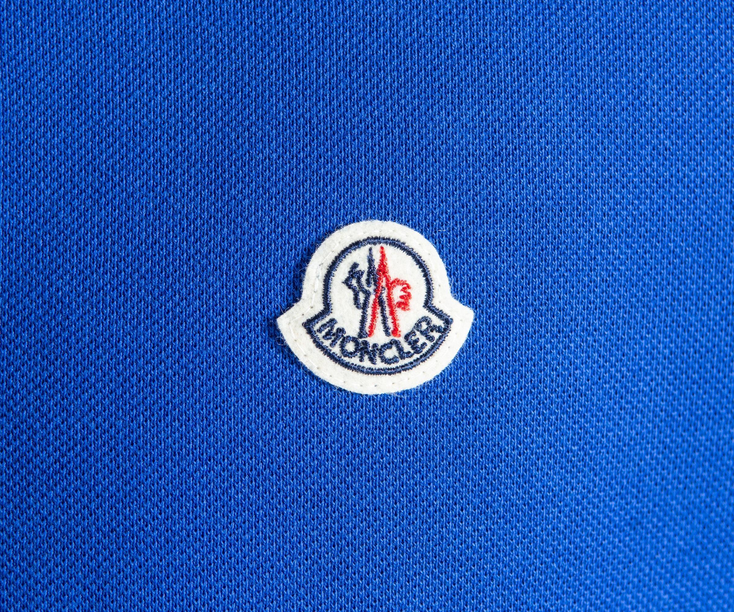2ab0ac8b04292 Moncler - 3-button Polo Royal Blue for Men - Lyst. View fullscreen