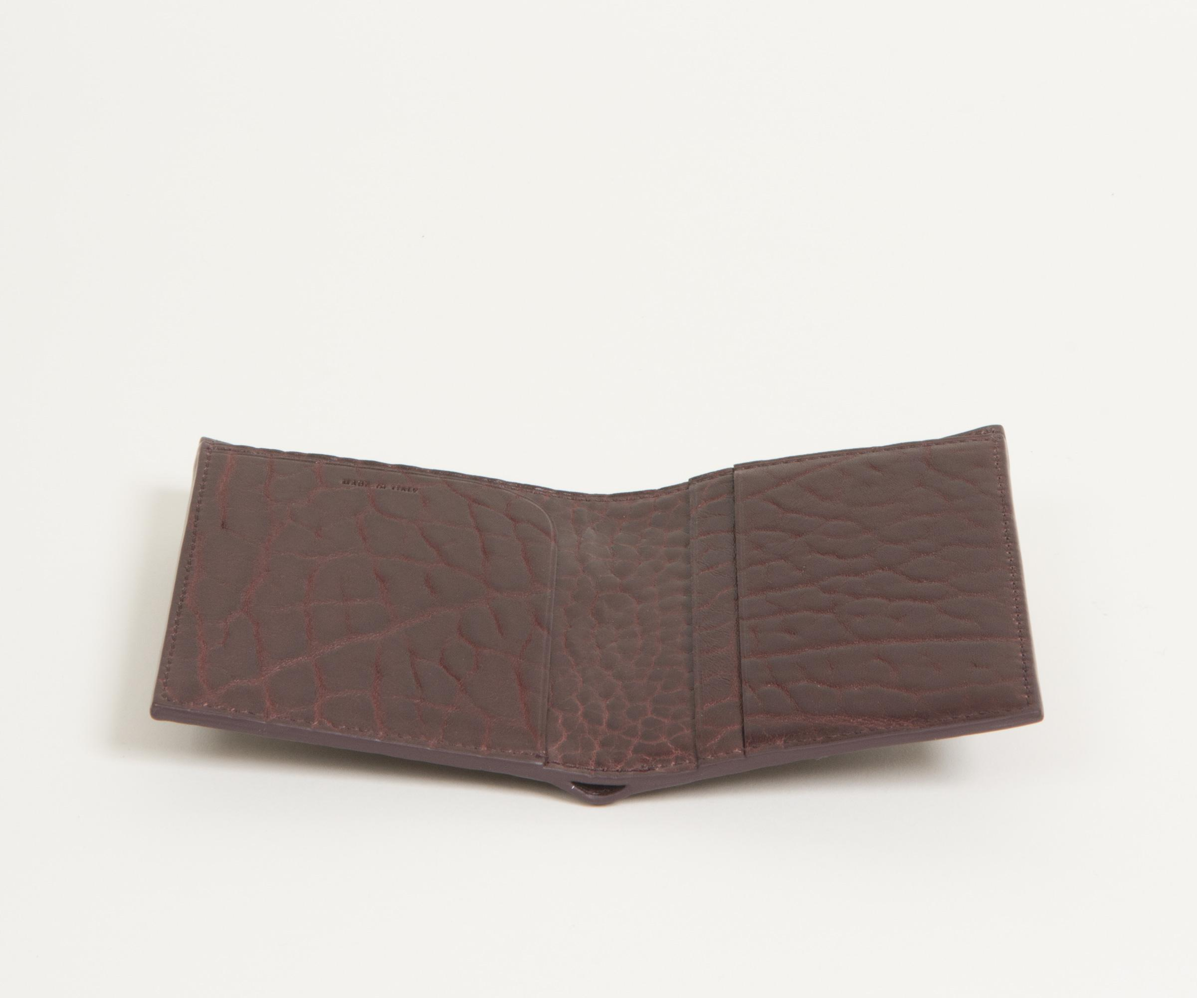 444ea6bf6881 Paul Smith Heavy Grained Billfold Leather Wallet Damson in Brown for ...