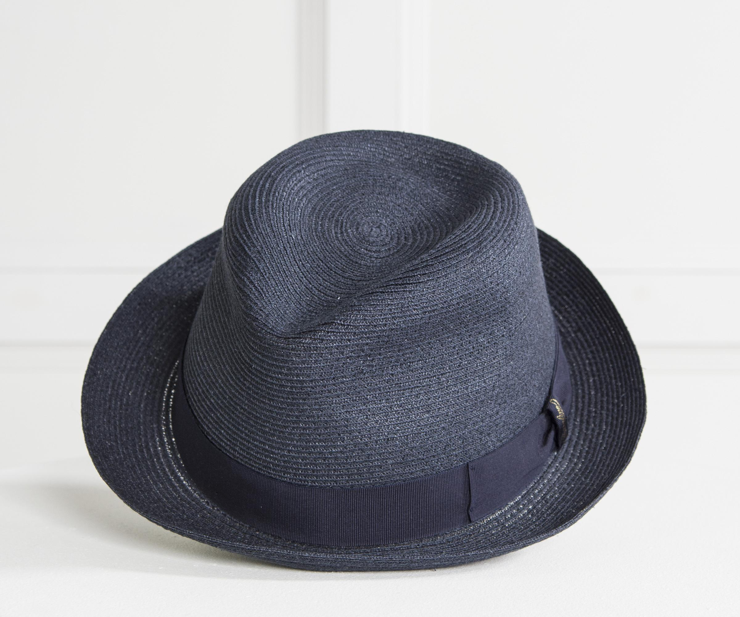 Borsalino  1107  Hemp Trilby Hat Navy in Blue for Men - Lyst f4c382008e24