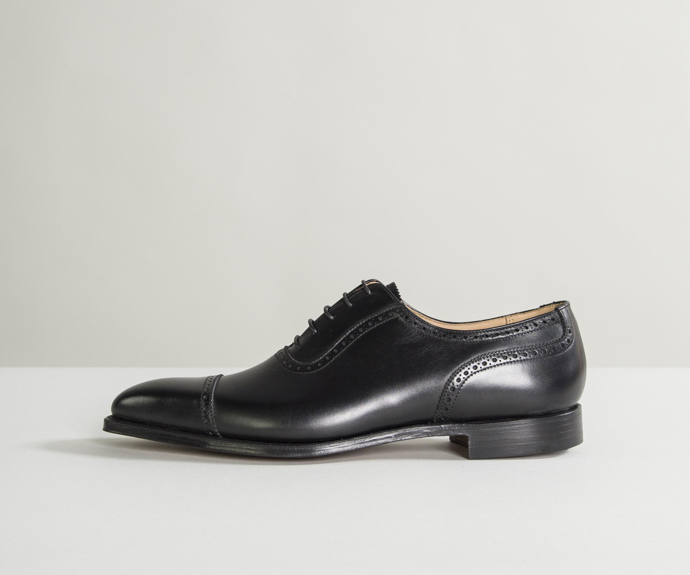 Cheap Sale Get To Buy Black Calfskin Punched Oxfords BELSIRE MILANO Cheap Collections Free Shipping Cheap Quality tWMaxB