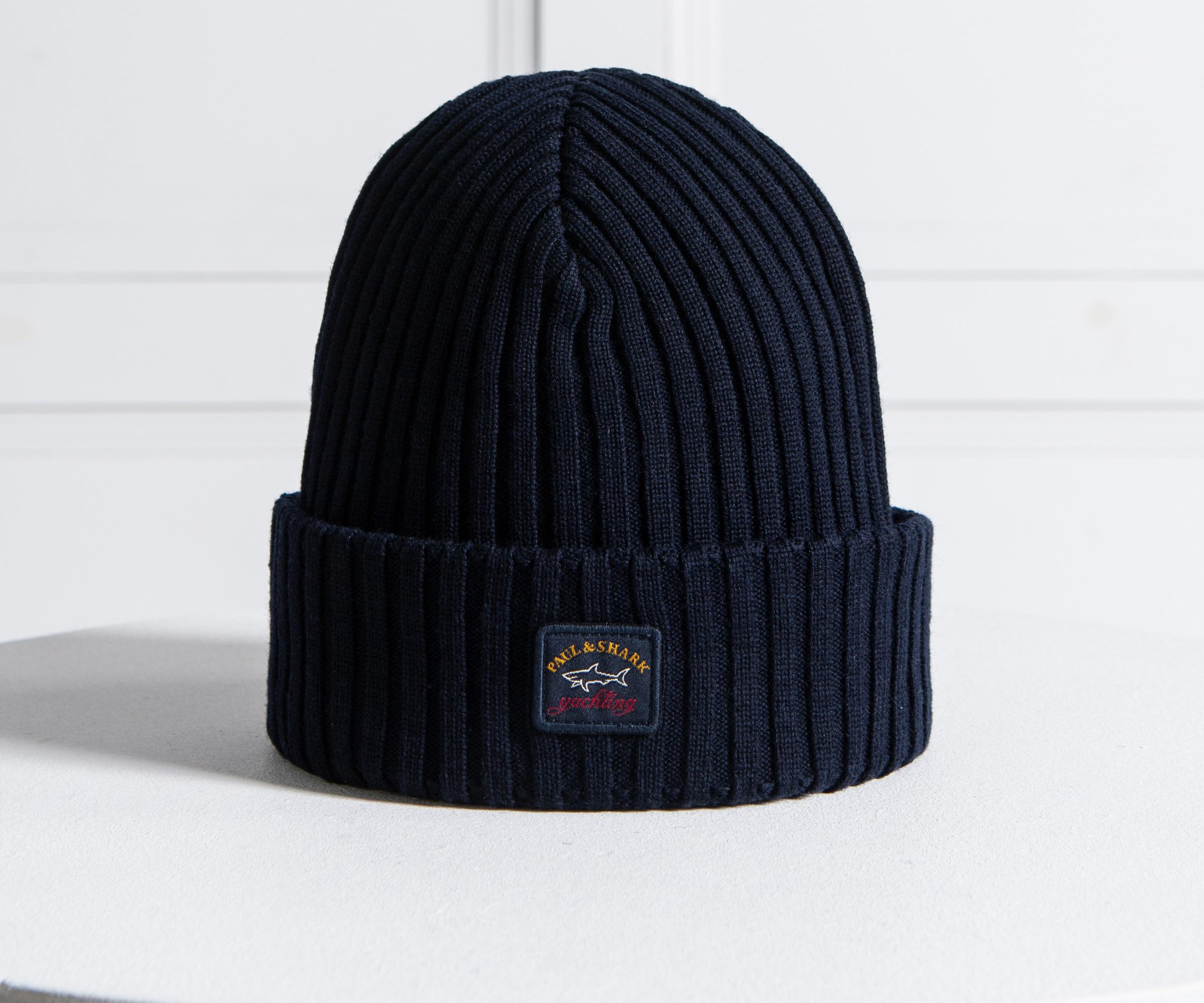 4faf26a8d96ec Paul   Shark  water Shed  Beanie Navy in Blue for Men - Lyst