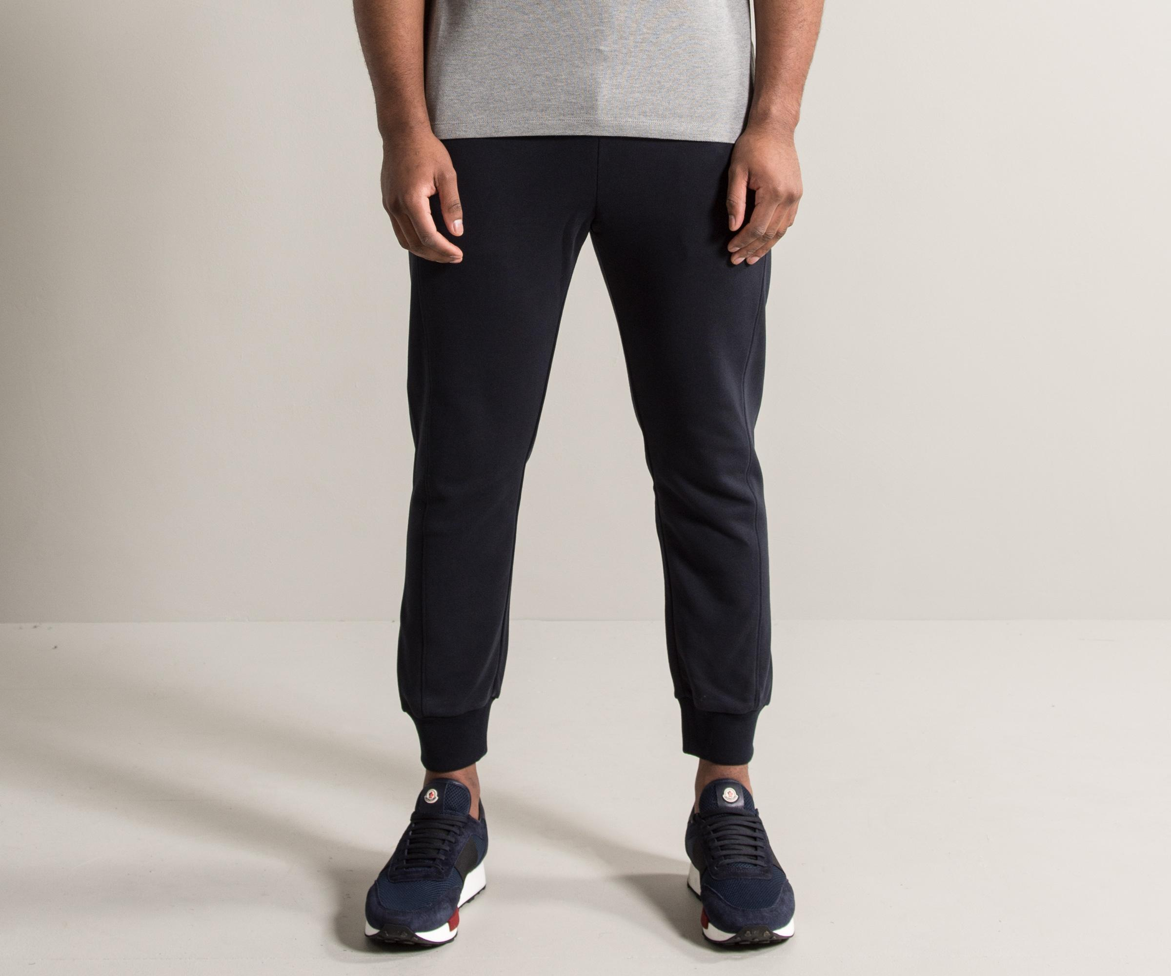52e43a998 Lyst - Moncler Gamme Bleu Jogging Pants With Logo Trim Navy in Blue ...