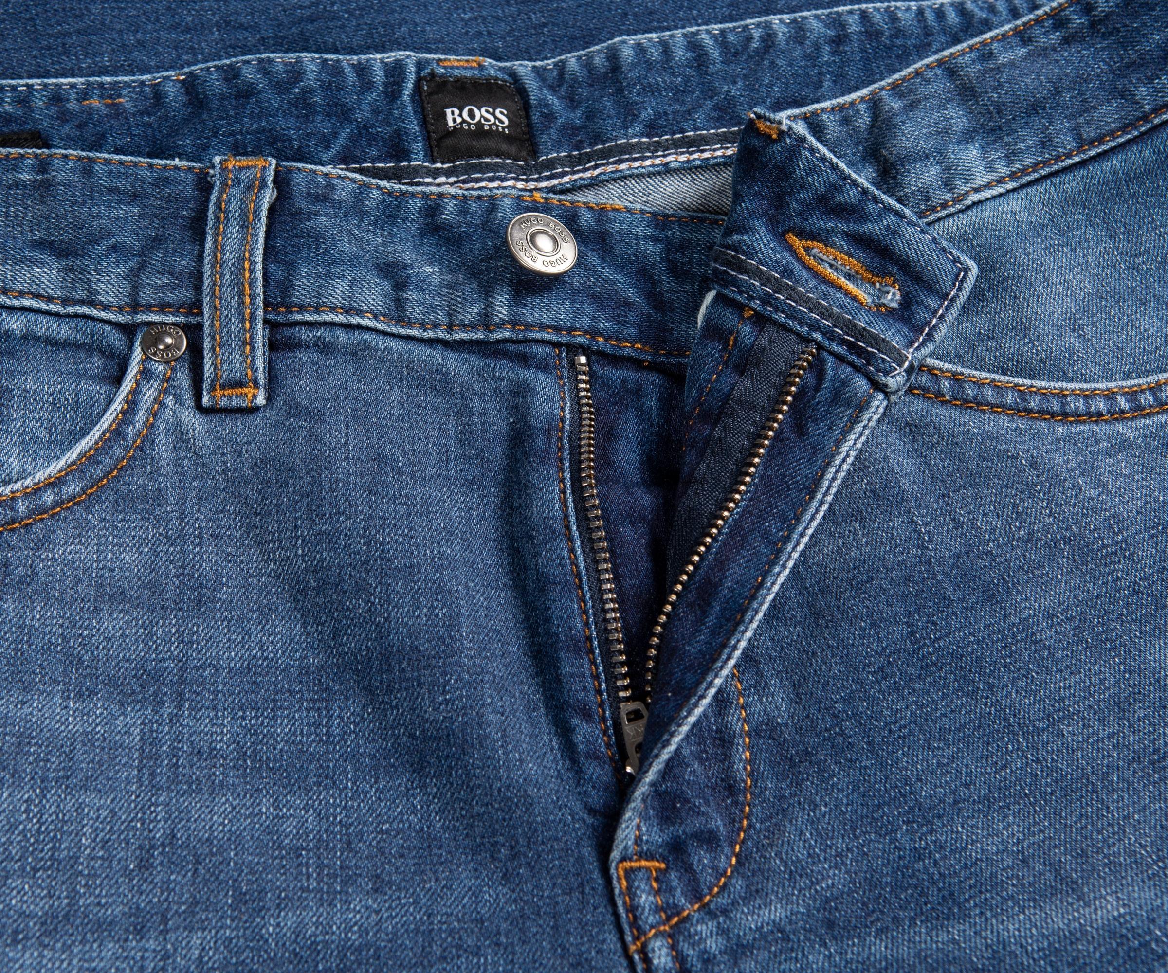 cca7f9ad BOSS - 'delaware 3-1' Slim Fit Jeans Summer Wash Blue for Men. View  fullscreen