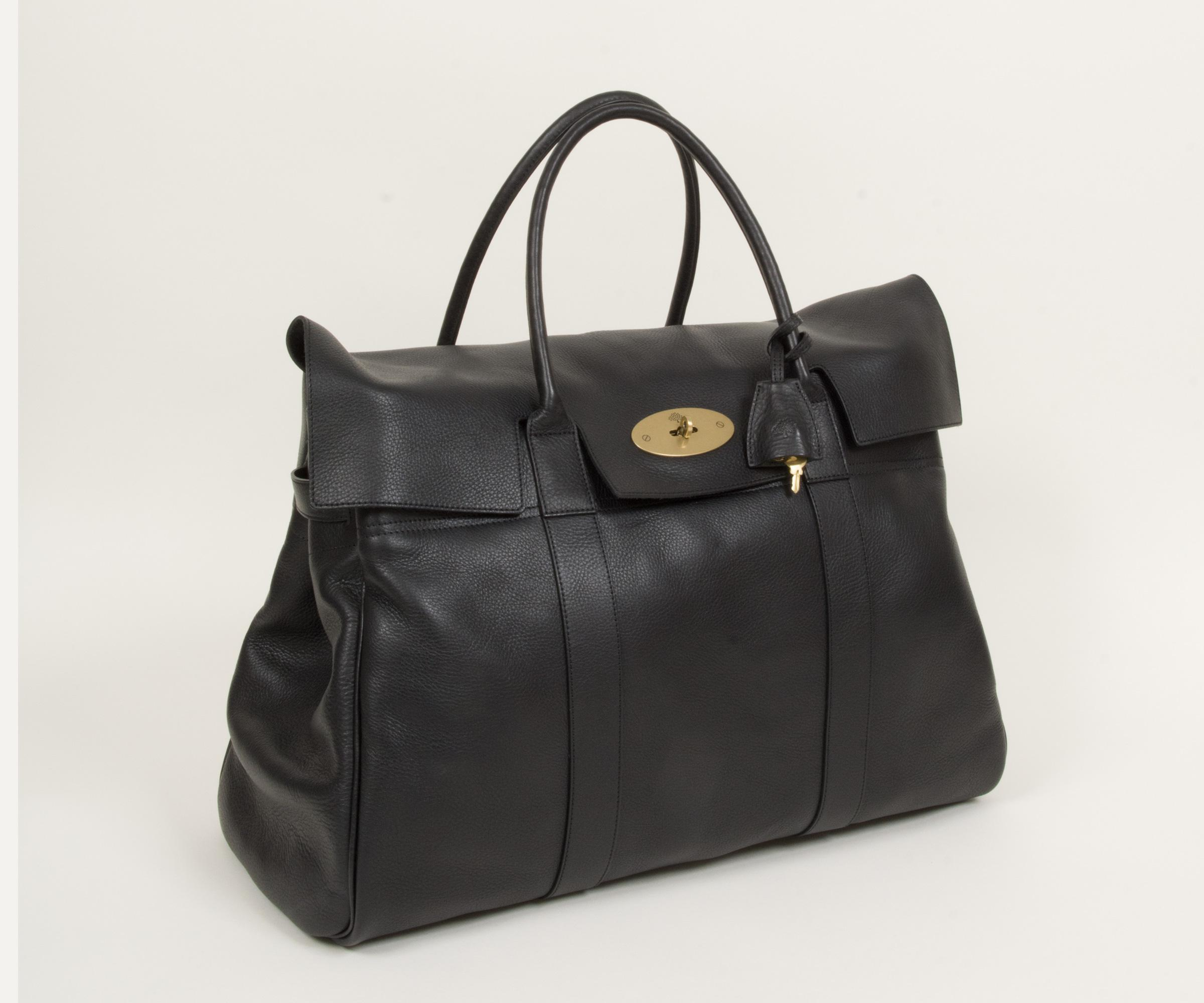 6f43cbd270 Lyst - Mulberry Piccadilly Leather Weekend Bag Black in Black for Men