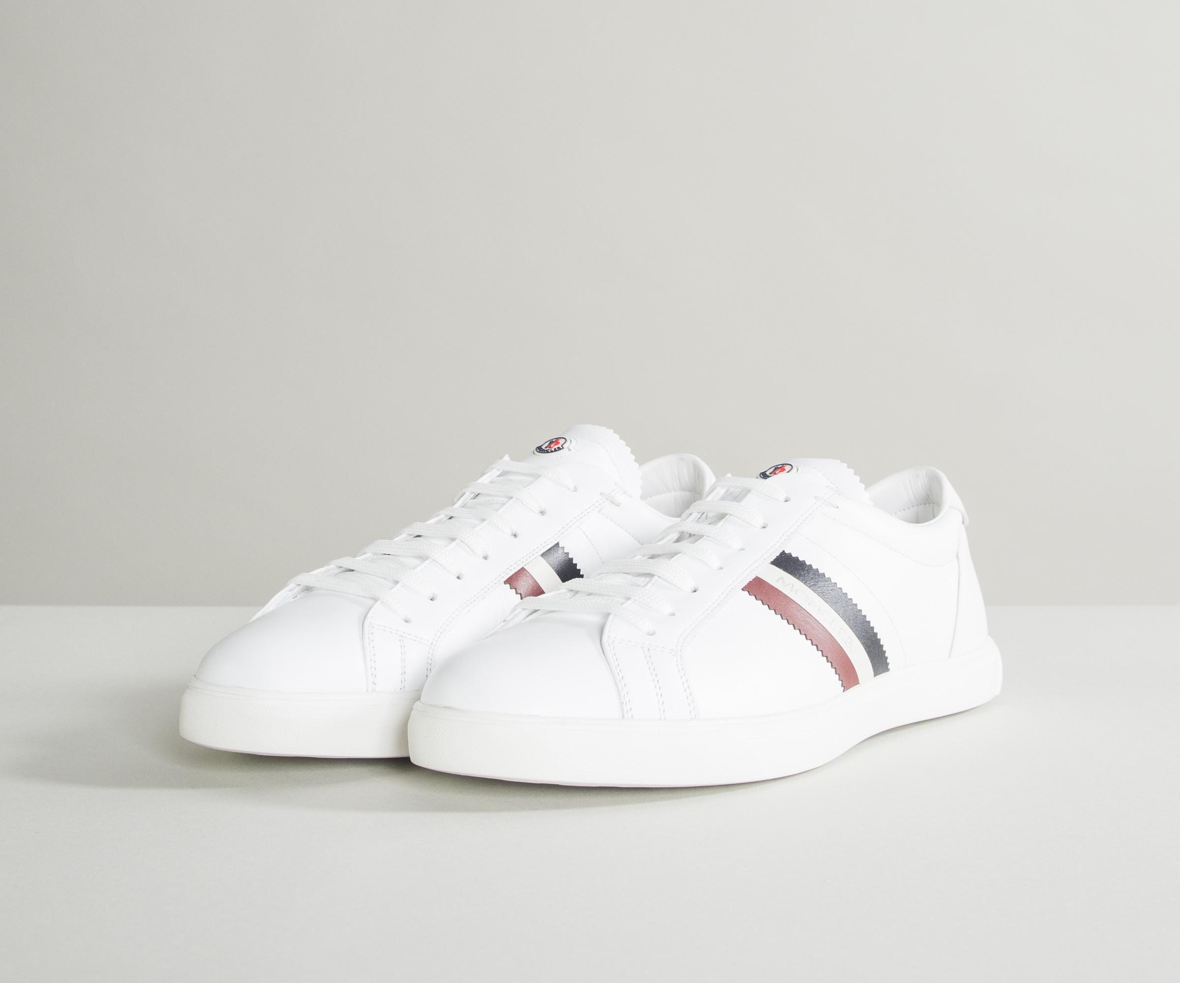 bf7de7393 Lyst - Moncler  la Monaco  Trainers With Trim White in White for Men ...