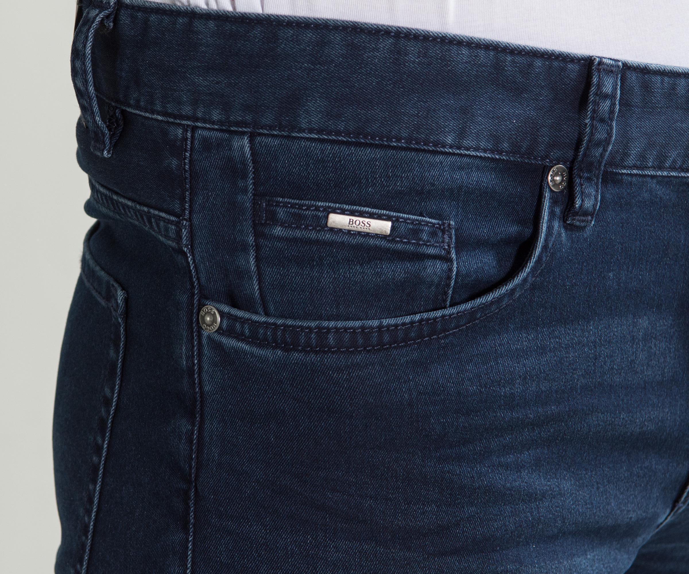804b3d5564878 BOSS -  delaware  Slim Fit Jeans Dark Blue for Men - Lyst. View fullscreen