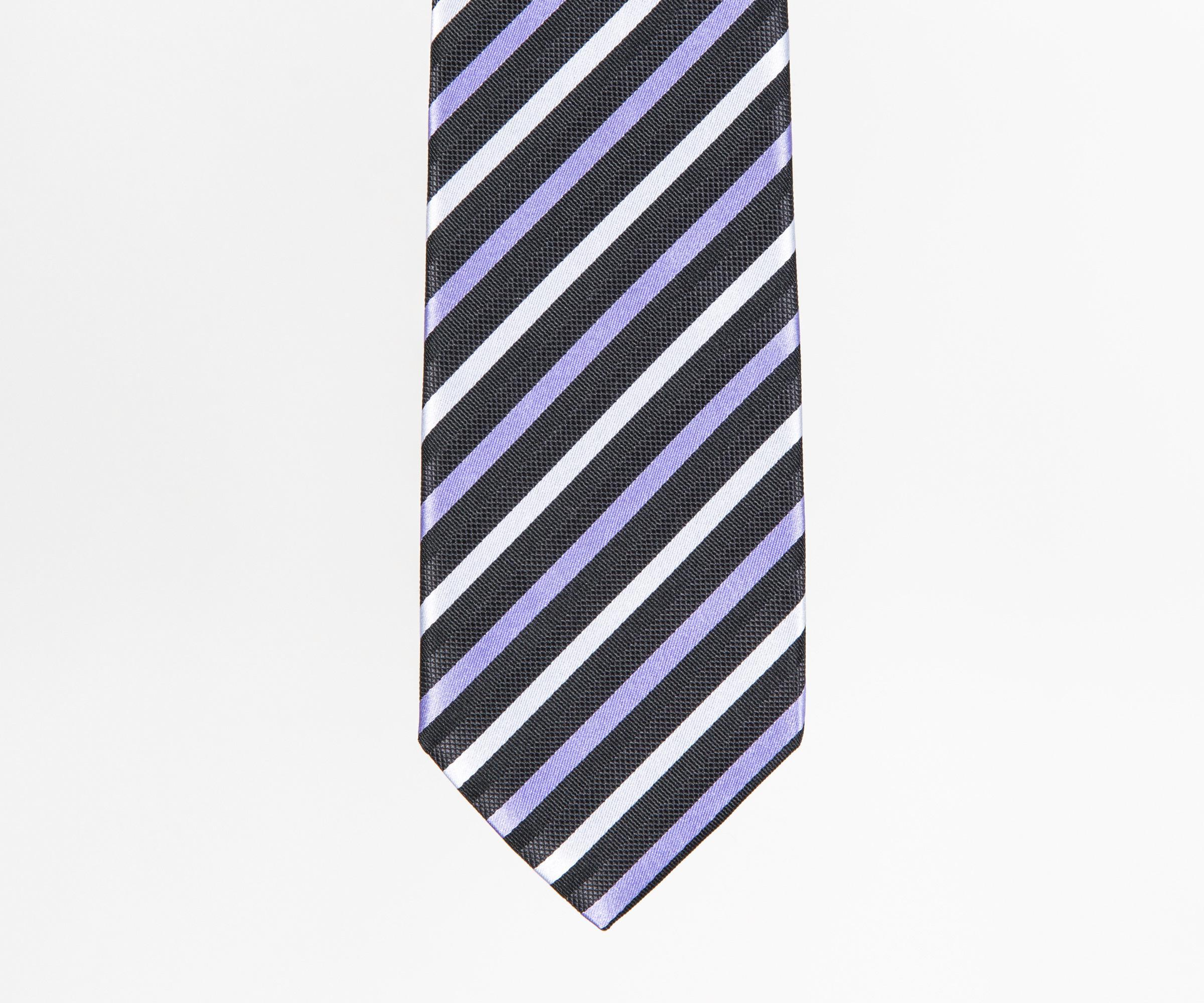Silk tie with woven diagonal stripes BOSS WMqxIQw