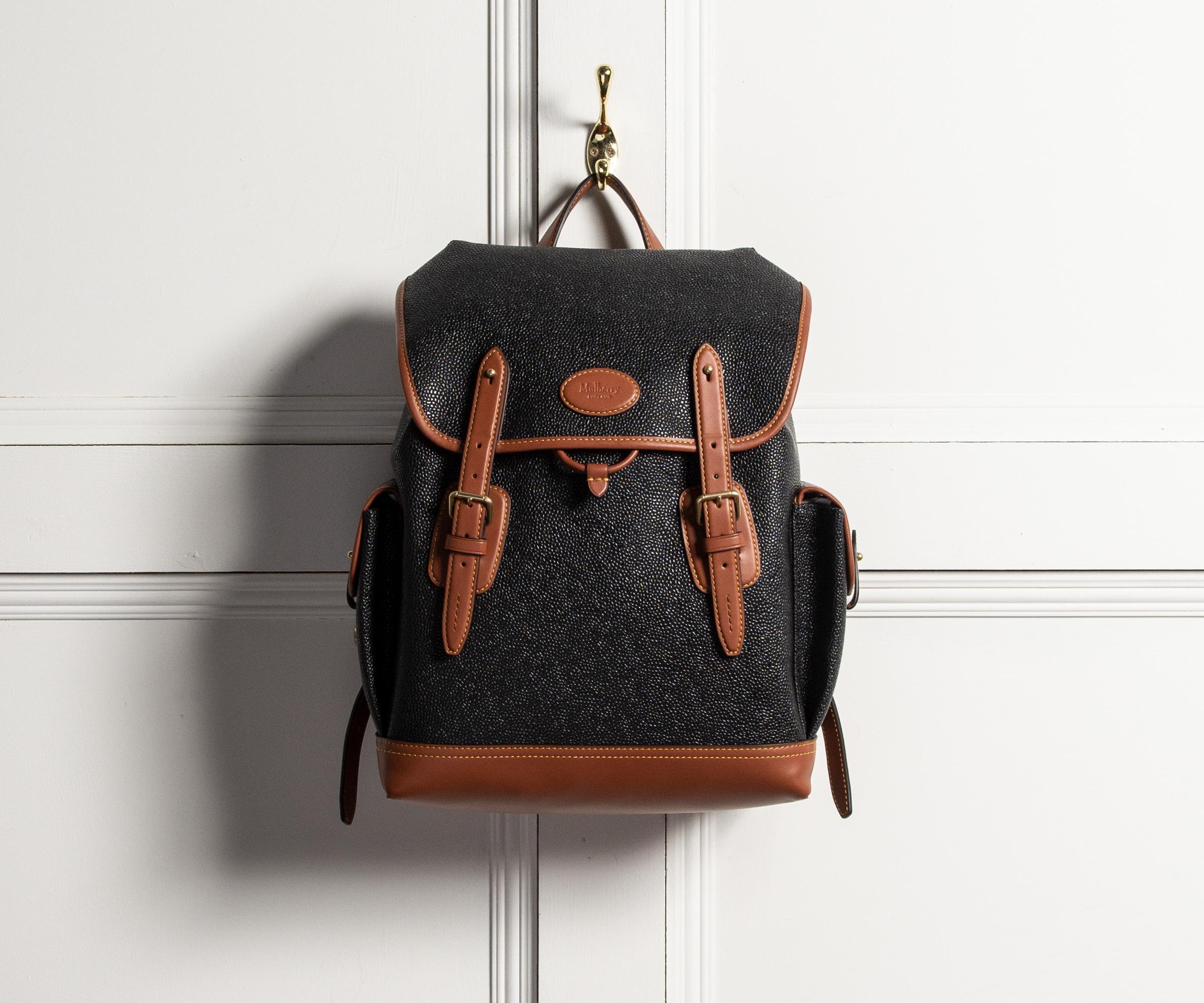 ac548ac106672 Lyst - Mulberry  heritage  Backpack Cognac   Black in Black for Men