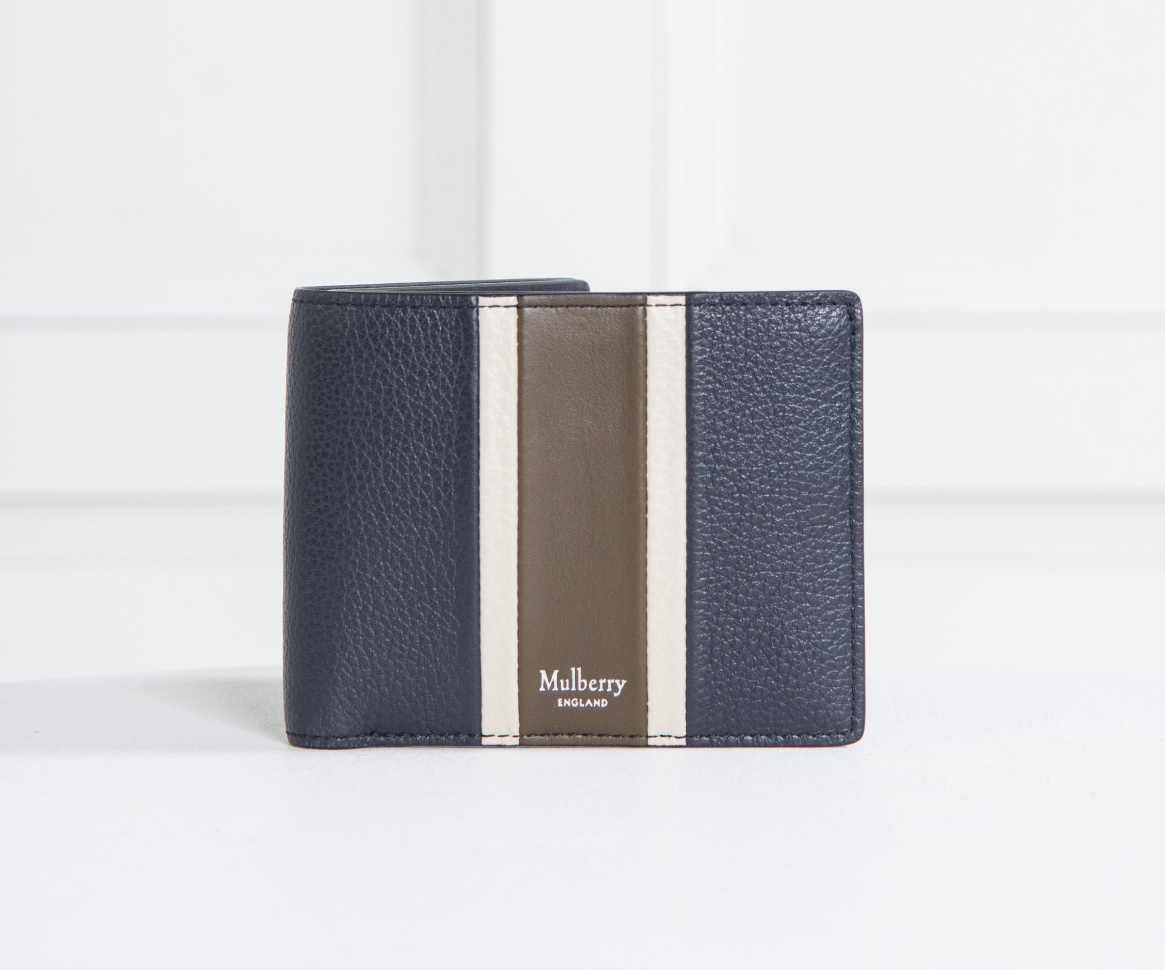 588de6f0ec0 ... embossed croc print leather sold spain lyst mulberry college stripe 8  card wallet midnight moss in blue 785f6 6a85e ...