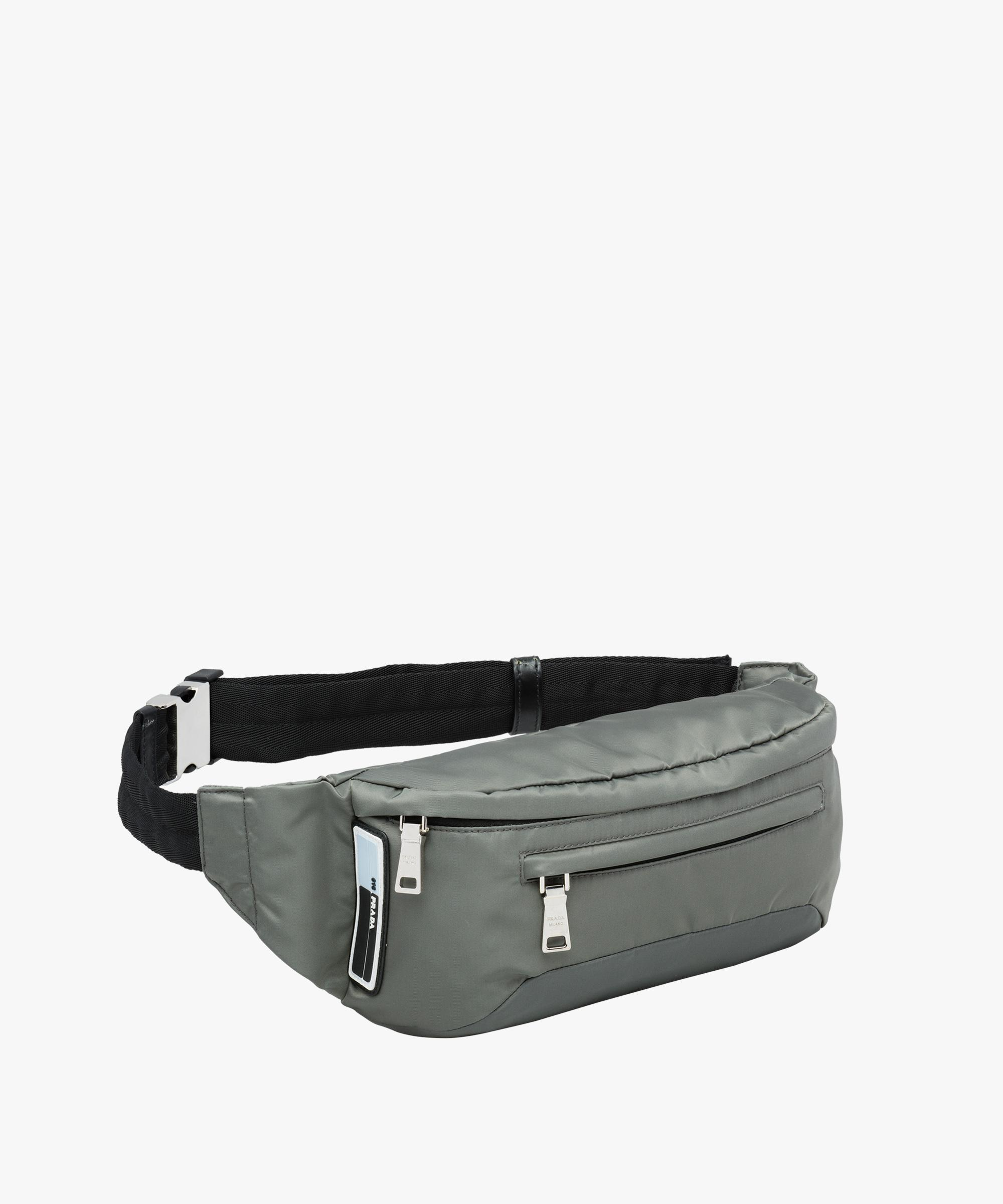 c42a1ee6e5c2 Lyst - Prada Technical Fabric Belt Bag in Gray for Men