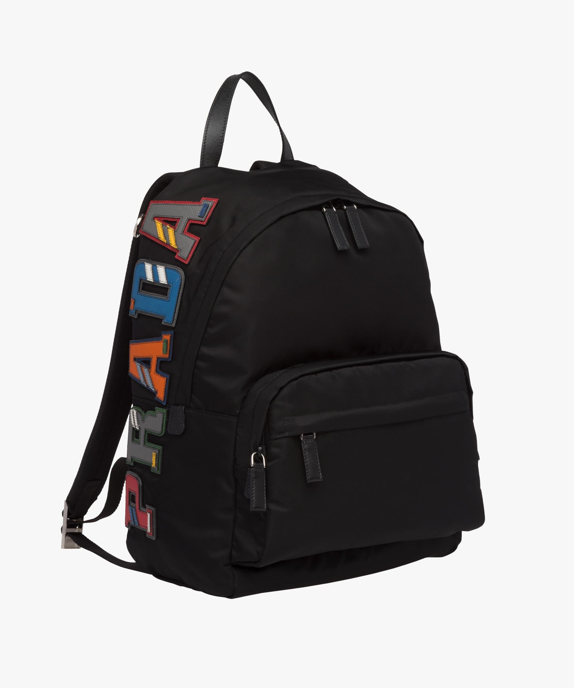 ... amazon lyst prada nylon and saffiano leather backpack in black for men  29050 77019 a721bb4070f92