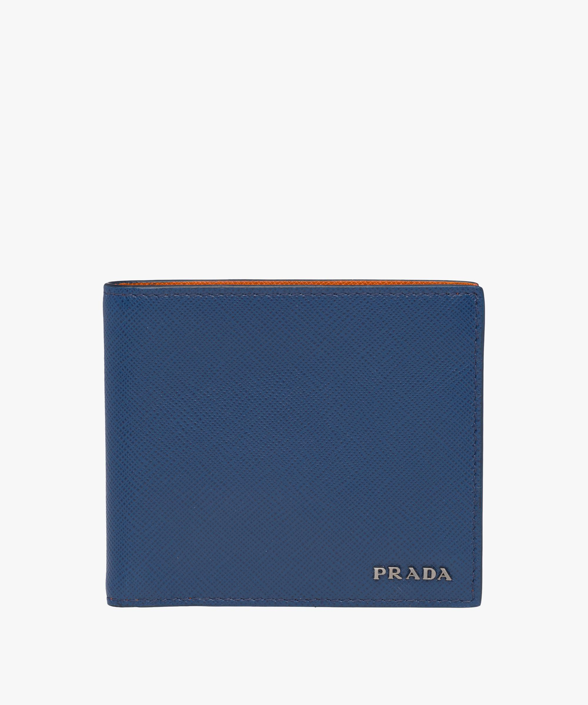 be2cb7e021de sweden prada blue mens wallet bf0a8 e9b09