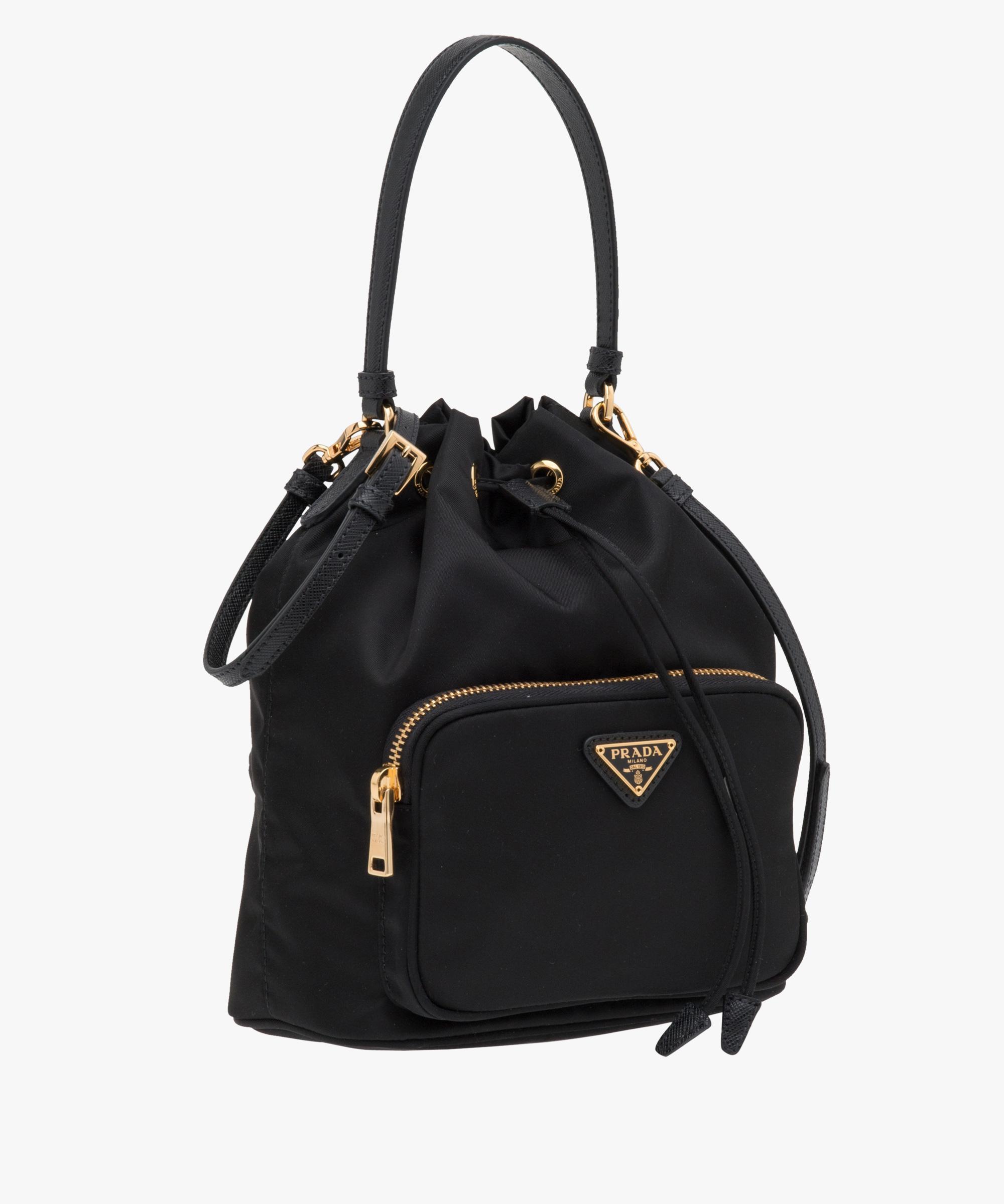 c47a2f92b1c8 ... new style lyst prada fabric mini bag in black 9cca7 df758 ...