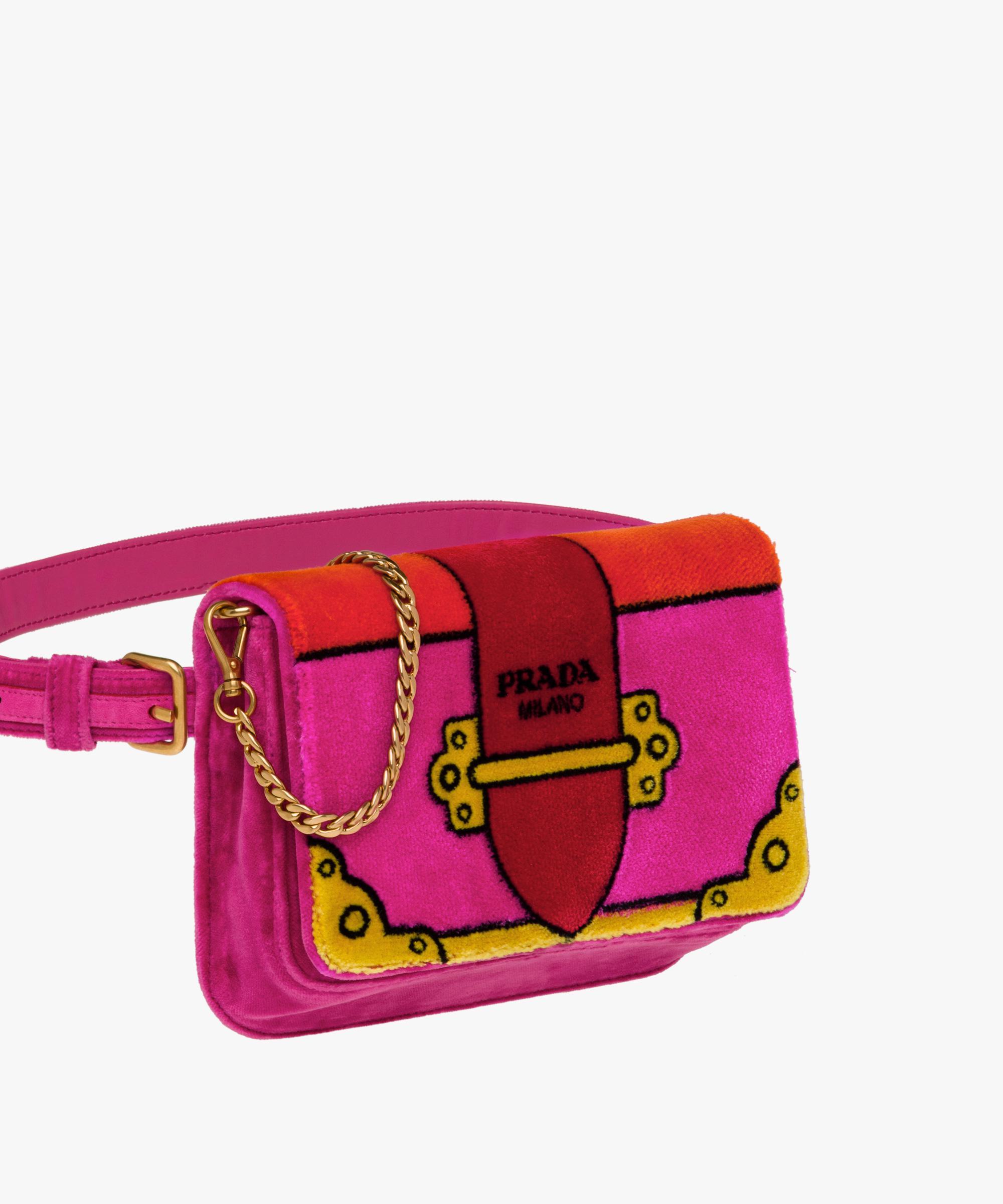 8a1722c66fef ... cheap lyst prada velvet bag in pink 2c551 5029a