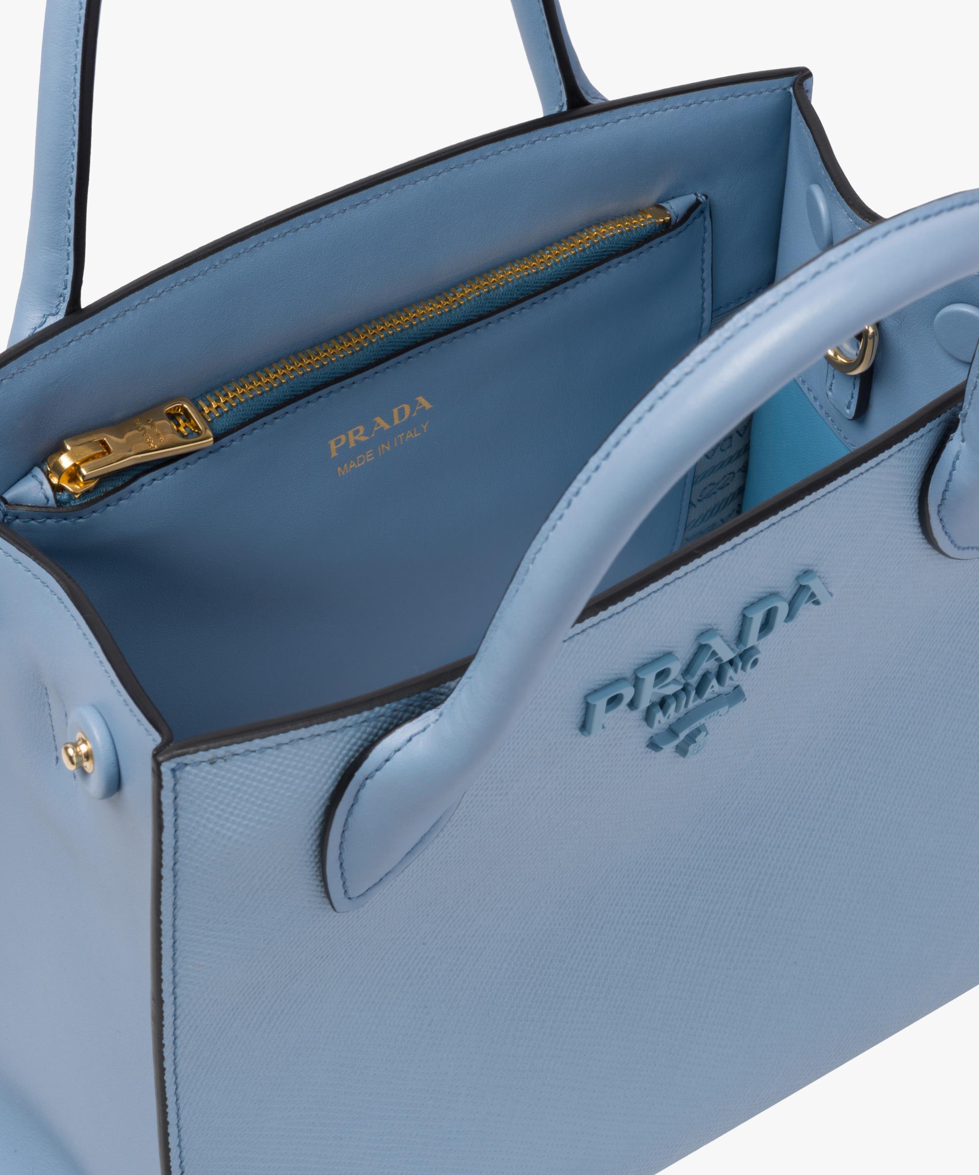 face2b15d63c Prada Monochrome Saffiano Leather Bag in Blue - Lyst