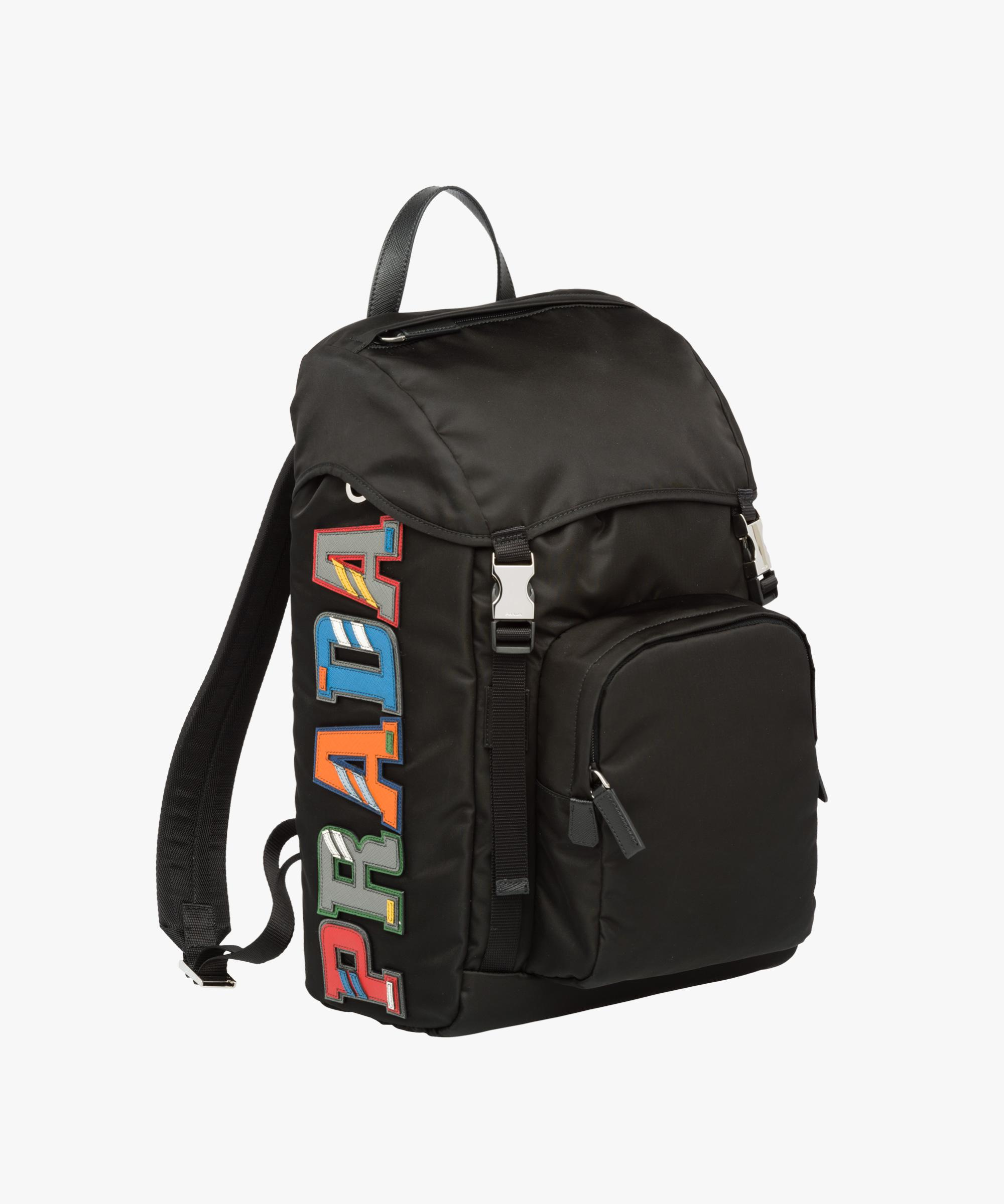987acd5bdba Prada Nylon And Saffiano Leather Backpack in Black for Men - Lyst