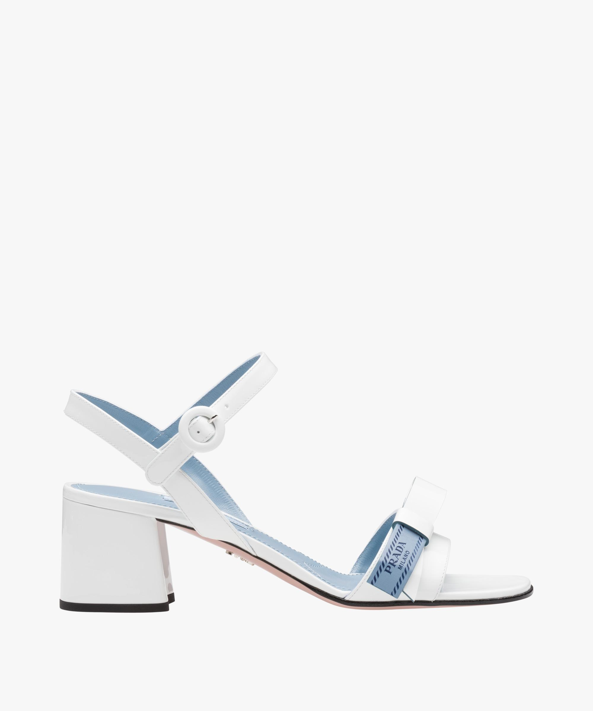Silver Etiquette sandal Prada JzCIag