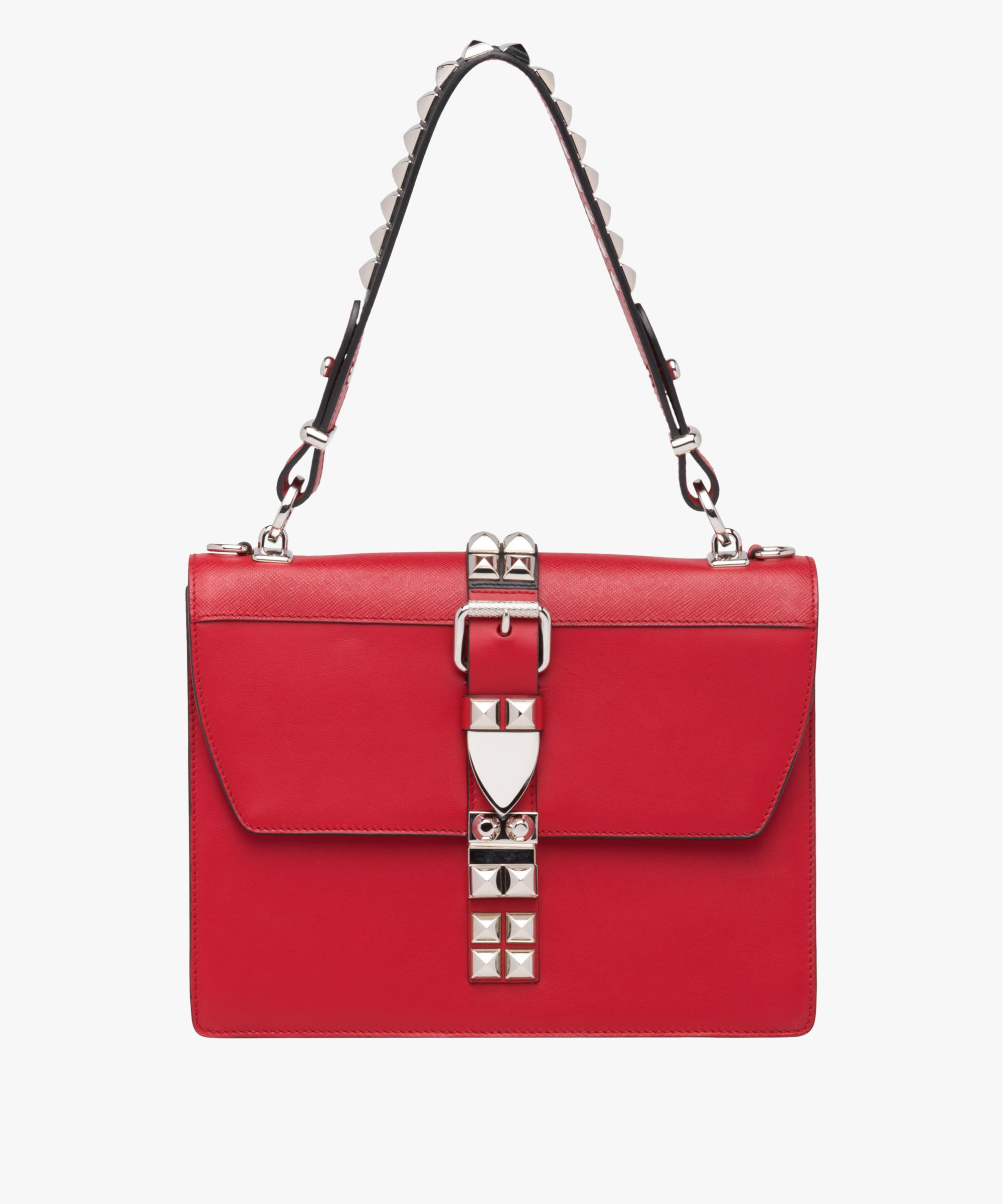 66e52c1b93f3 ... shop prada all designer products. womens red leather shoulder bag 6ffd7  648db