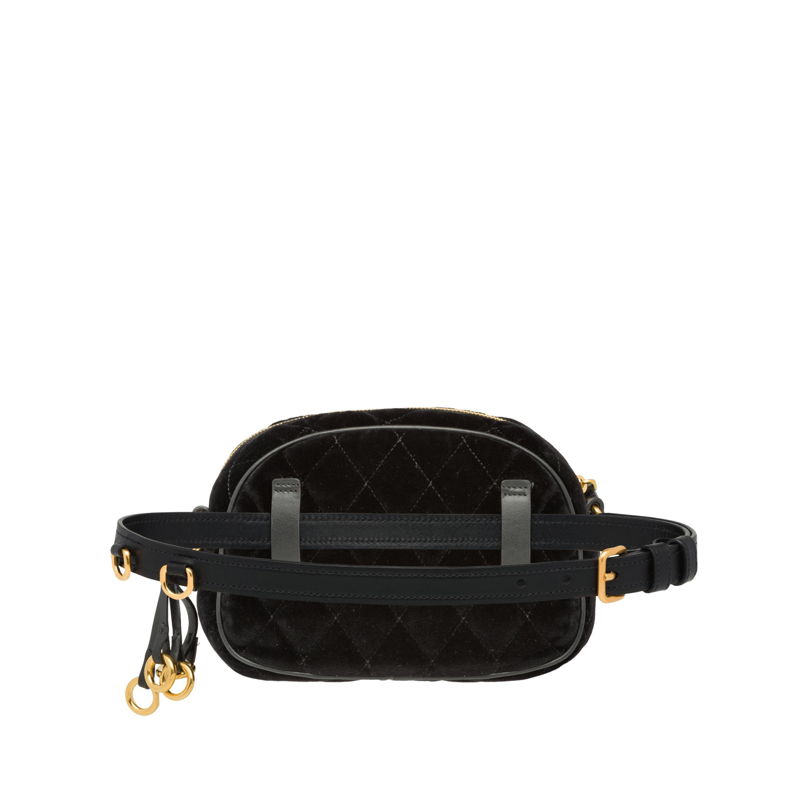 d704122259f2 Prada Corsaire Belt Bag in Black - Lyst